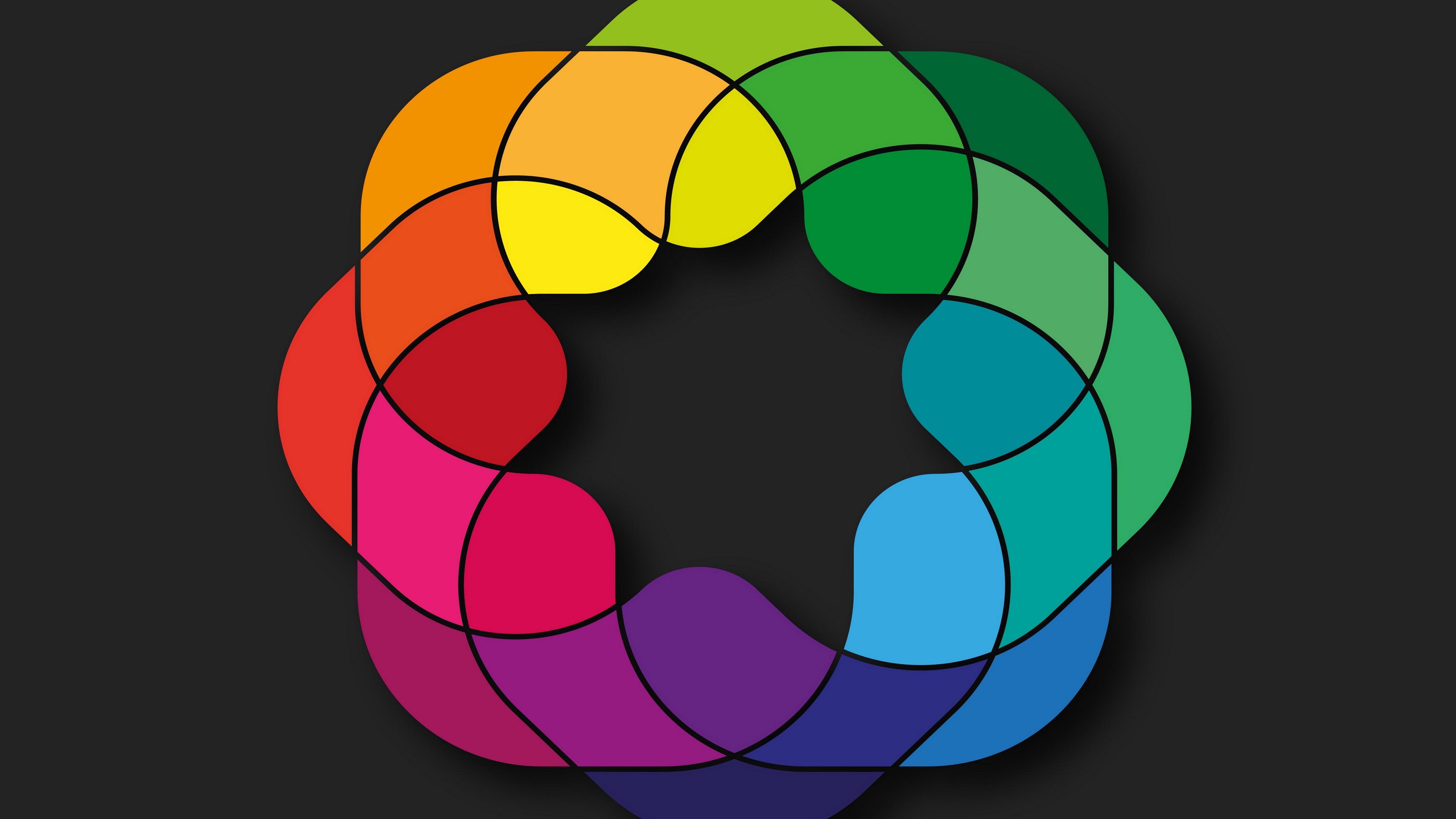 shapes colorful black background 4k 1539370323 - shapes, colorful, black background 4k - Shapes, Colorful, black background
