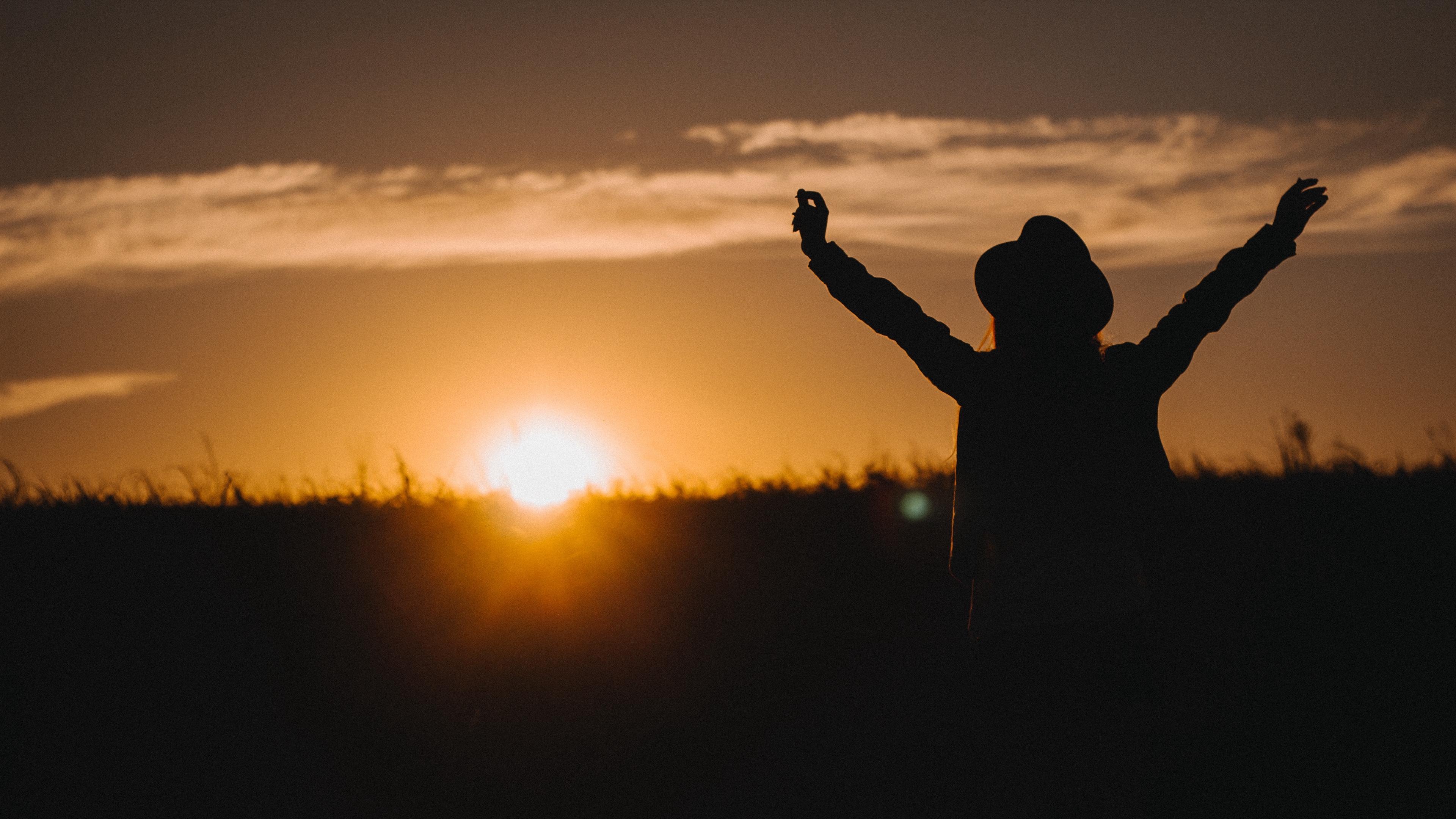 silhouette night sunset freedom 4k 1540574395 - silhouette, night, sunset, freedom 4k - sunset, Silhouette, Night