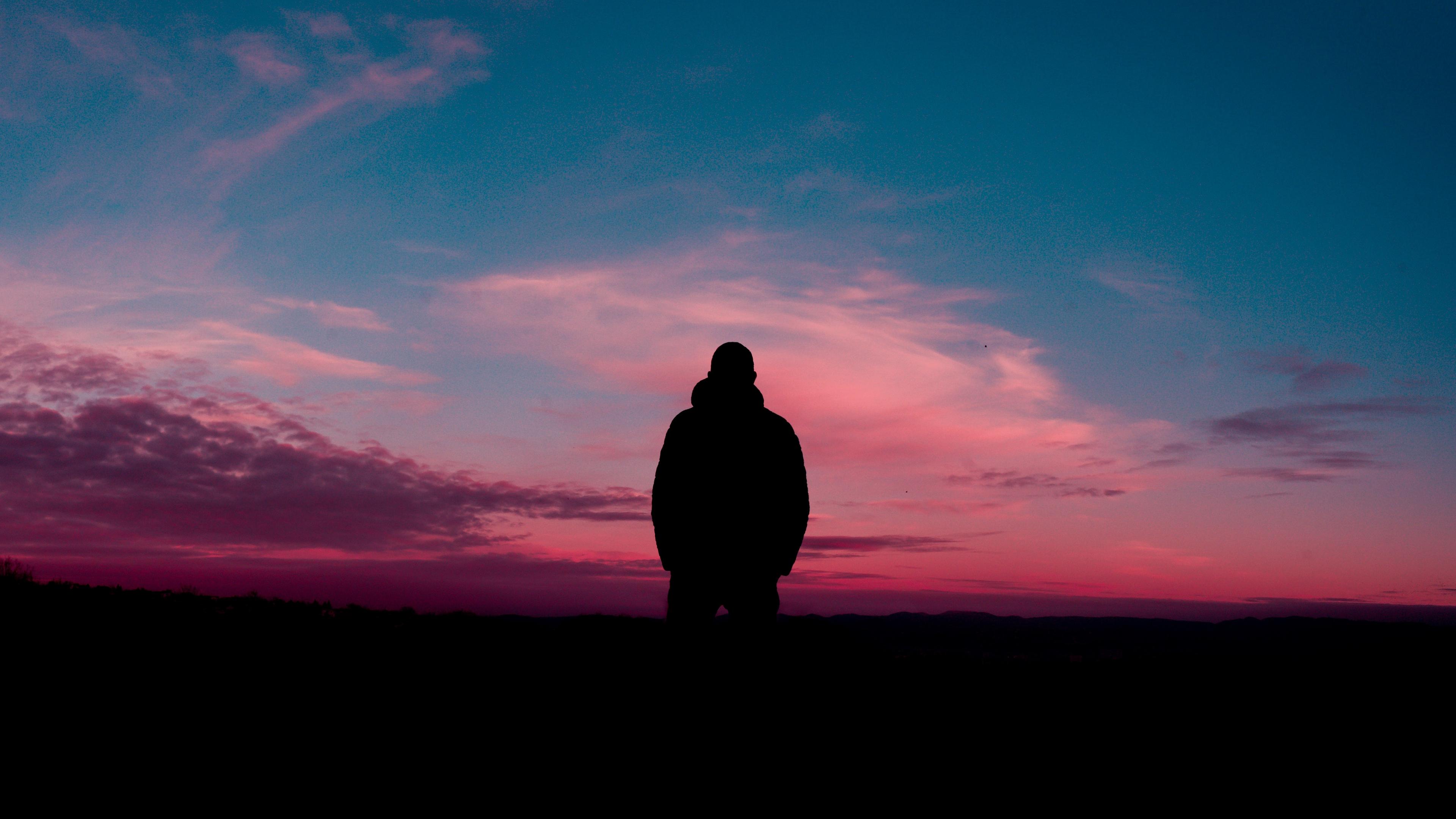 silhouette sunset horizon alone solitude 4k 1540575344 - silhouette, sunset, horizon, alone, solitude 4k - sunset, Silhouette, Horizon