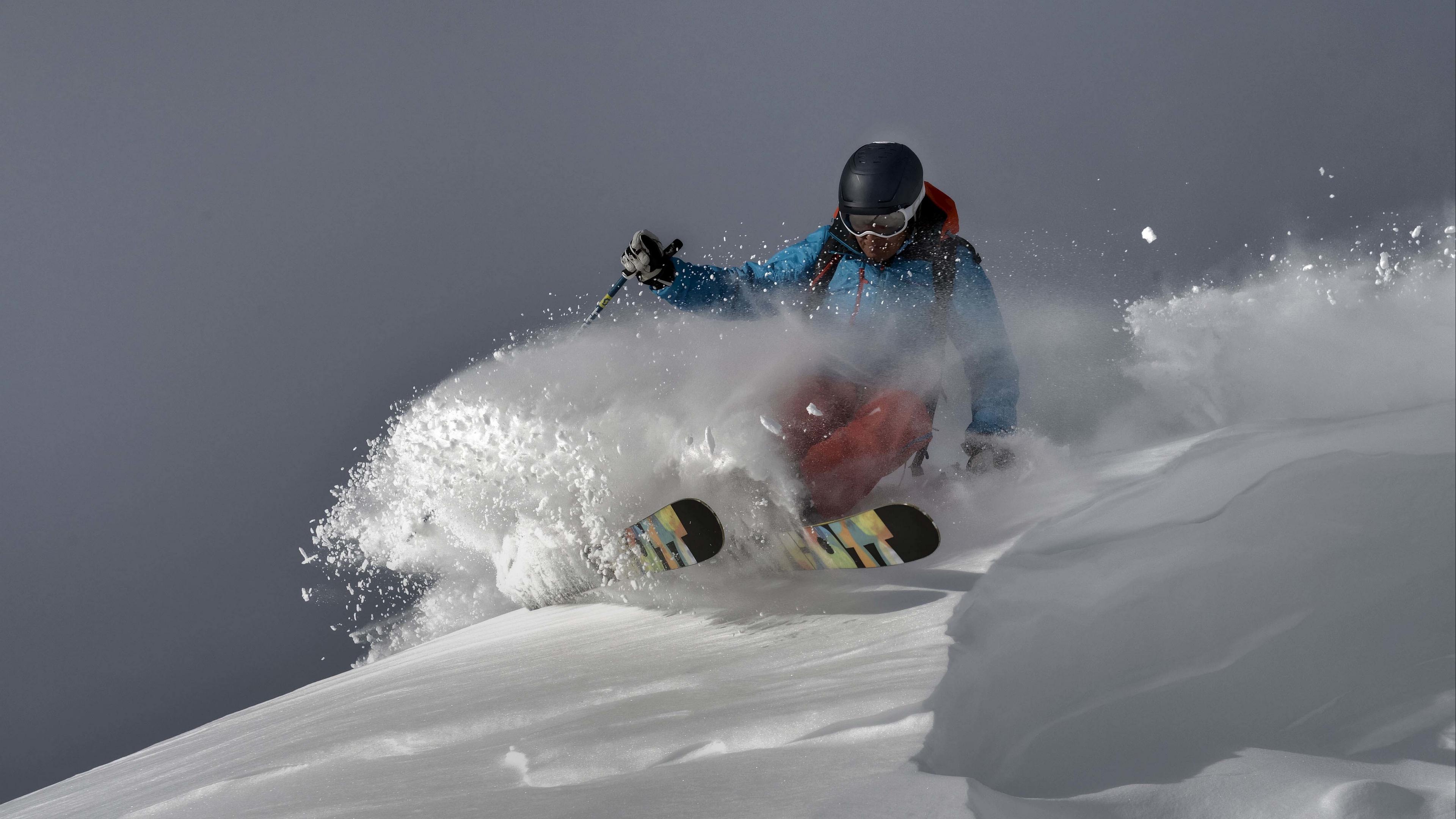 skier snow downhill 4k 1540063191 - skier, snow, downhill 4k - Snow, skier, downhill