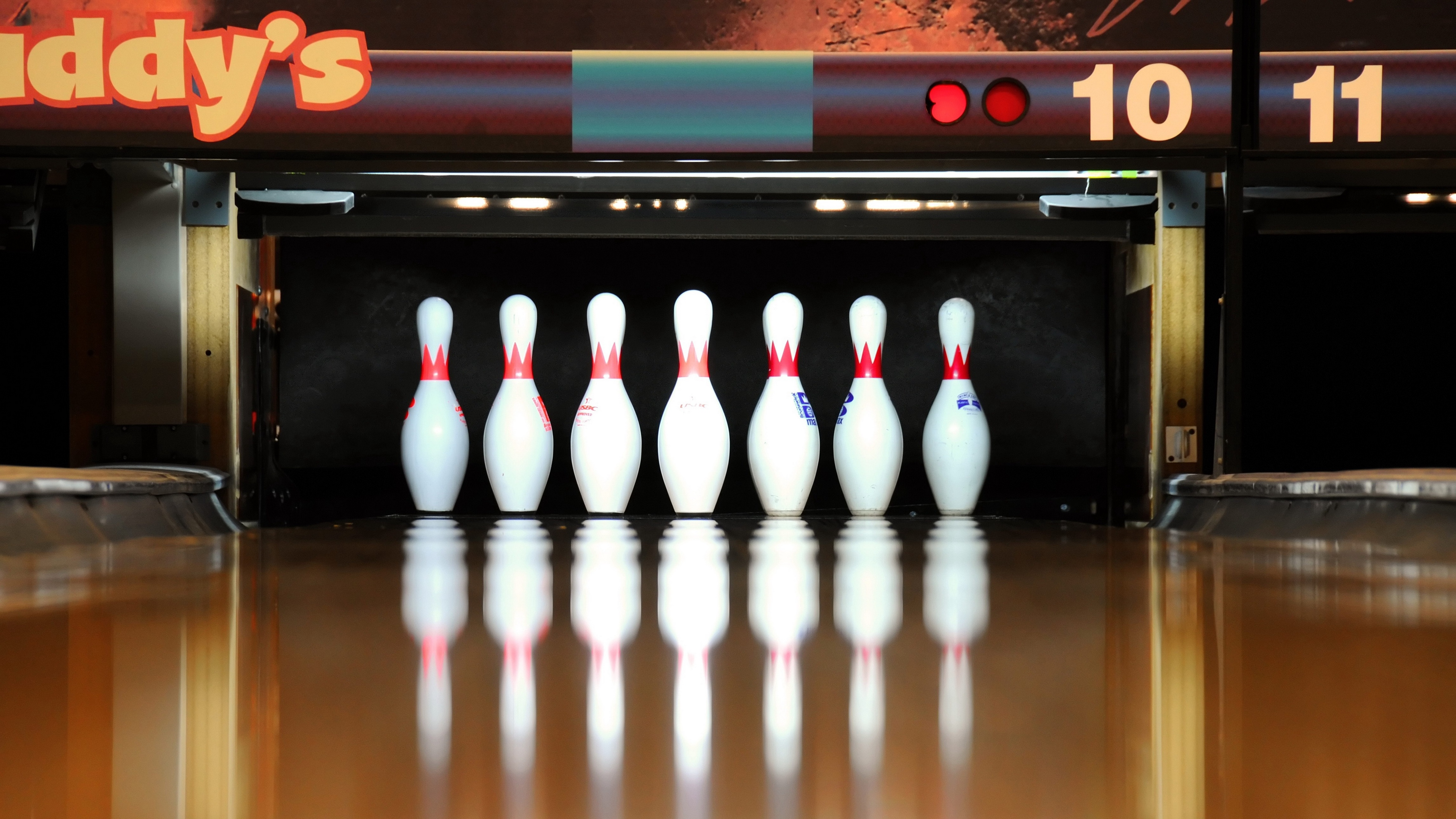 skittles bowling reflection 4k 1540062562 - skittles, bowling, reflection 4k - skittles, reflection, bowling