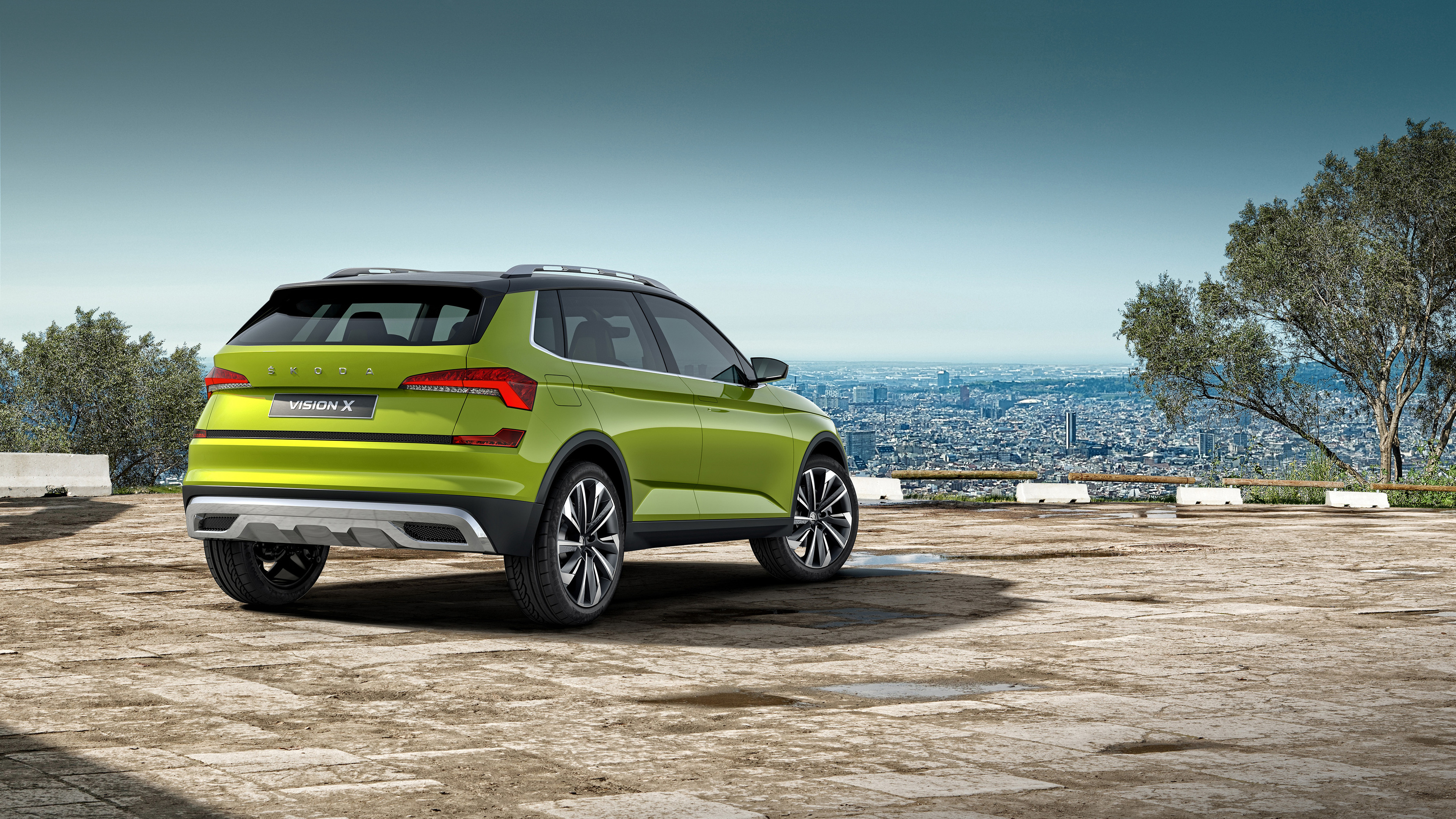 skoda vision x 2018 rear 1539110041 - Skoda Vision X 2018 Rear - skoda wallpapers, skoda vision x wallpapers, hd-wallpapers, cars wallpapers, 4k-wallpapers, 2018 cars wallpapers