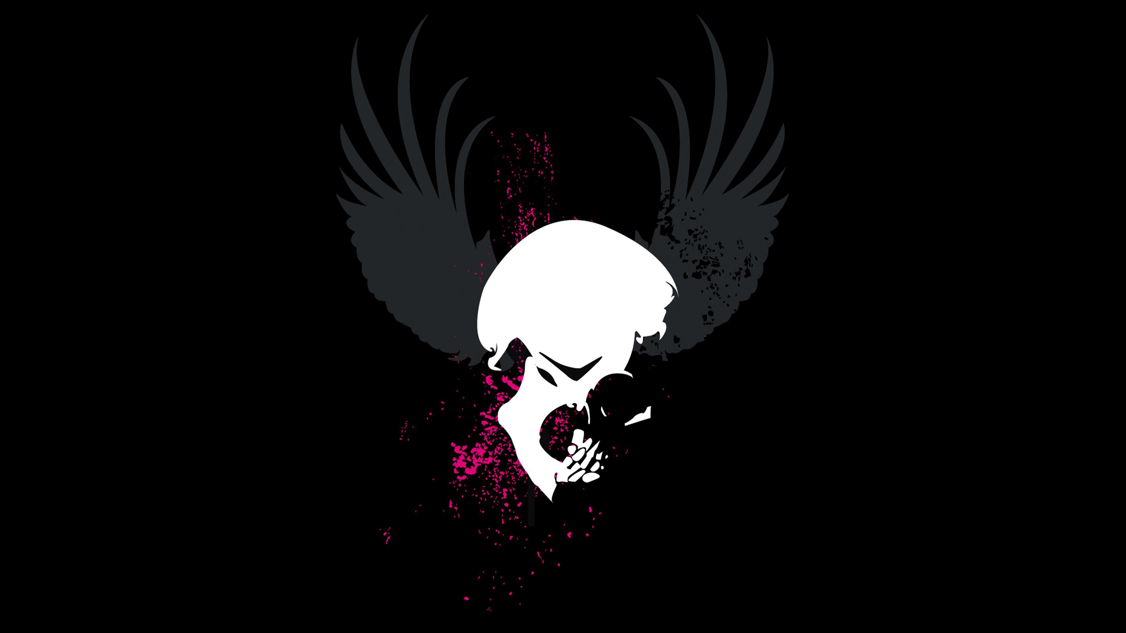 skull grunge wings dark 4k 1540754526 - Skull Grunge Wings Dark 4k - wings wallpapers, skull wallpapers, hd-wallpapers, dark wallpapers, 4k-wallpapers