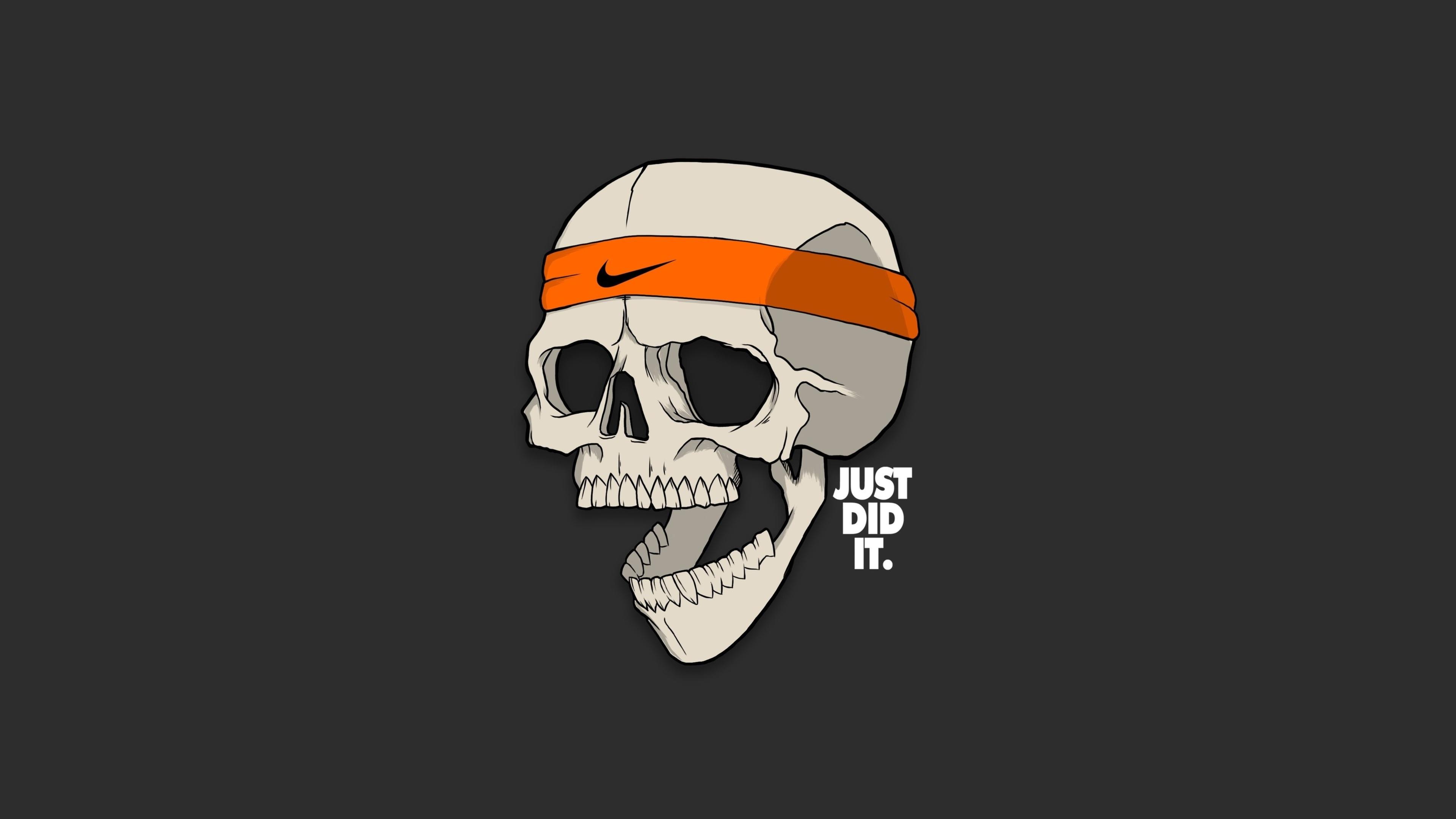 Skull And Bones 2018 Video Game 4k Hd Desktop Wallpaper: Skull Just Did It Minimalism 4k Skull Wallpapers