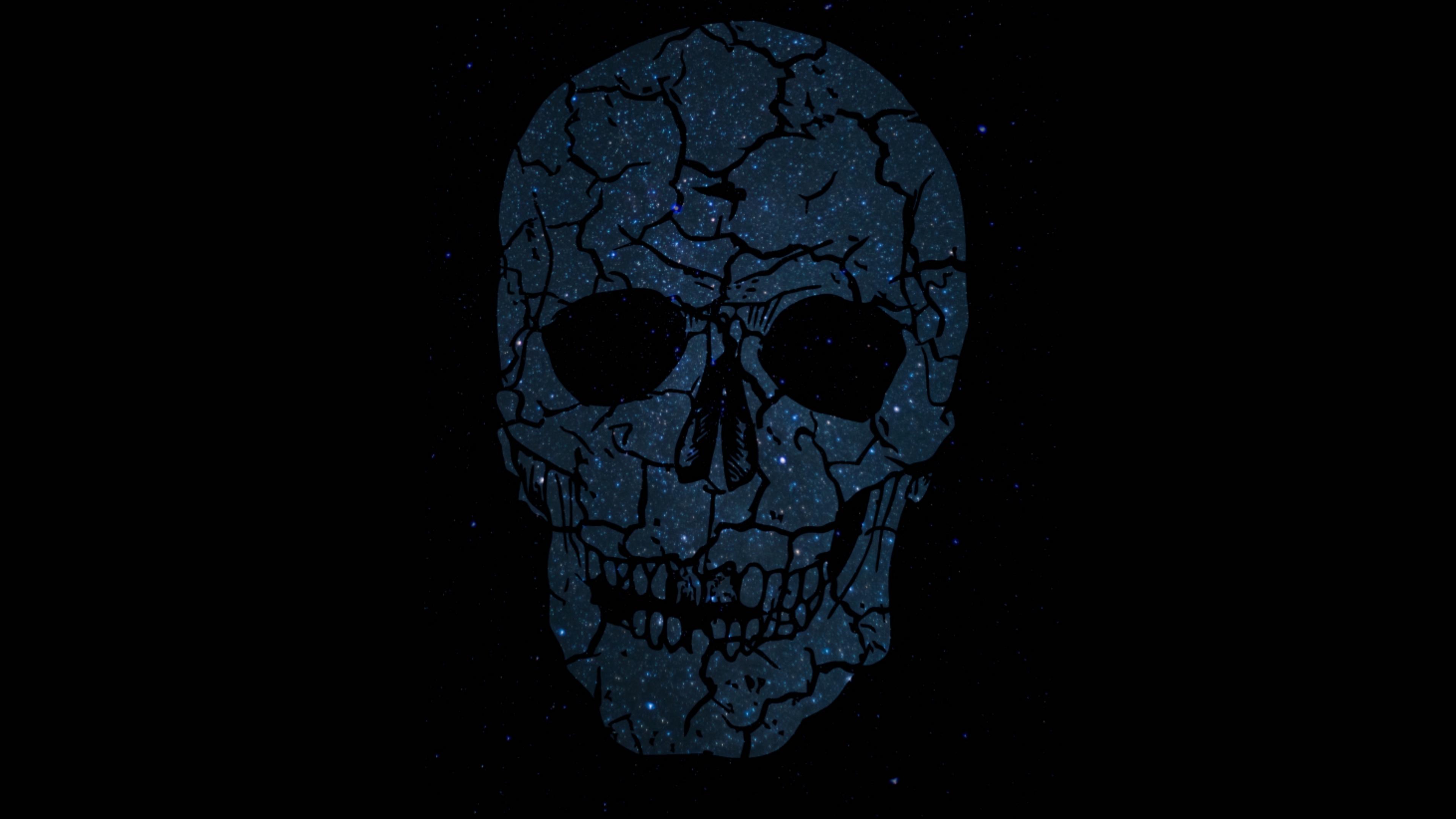 Wallpaper 4k Skull Shine Cracks Skeleton Dark 4k Cracks