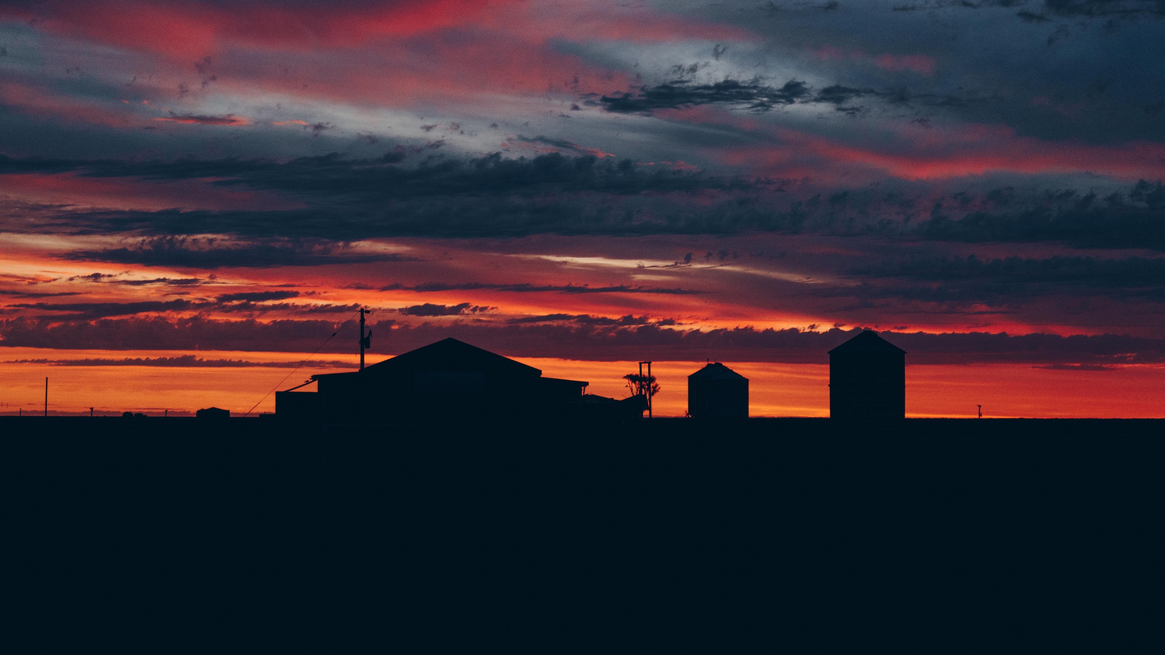 sky sunset building cloudy clouds 4k 1540574455 - sky, sunset, building, cloudy, clouds 4k - sunset, Sky, Building