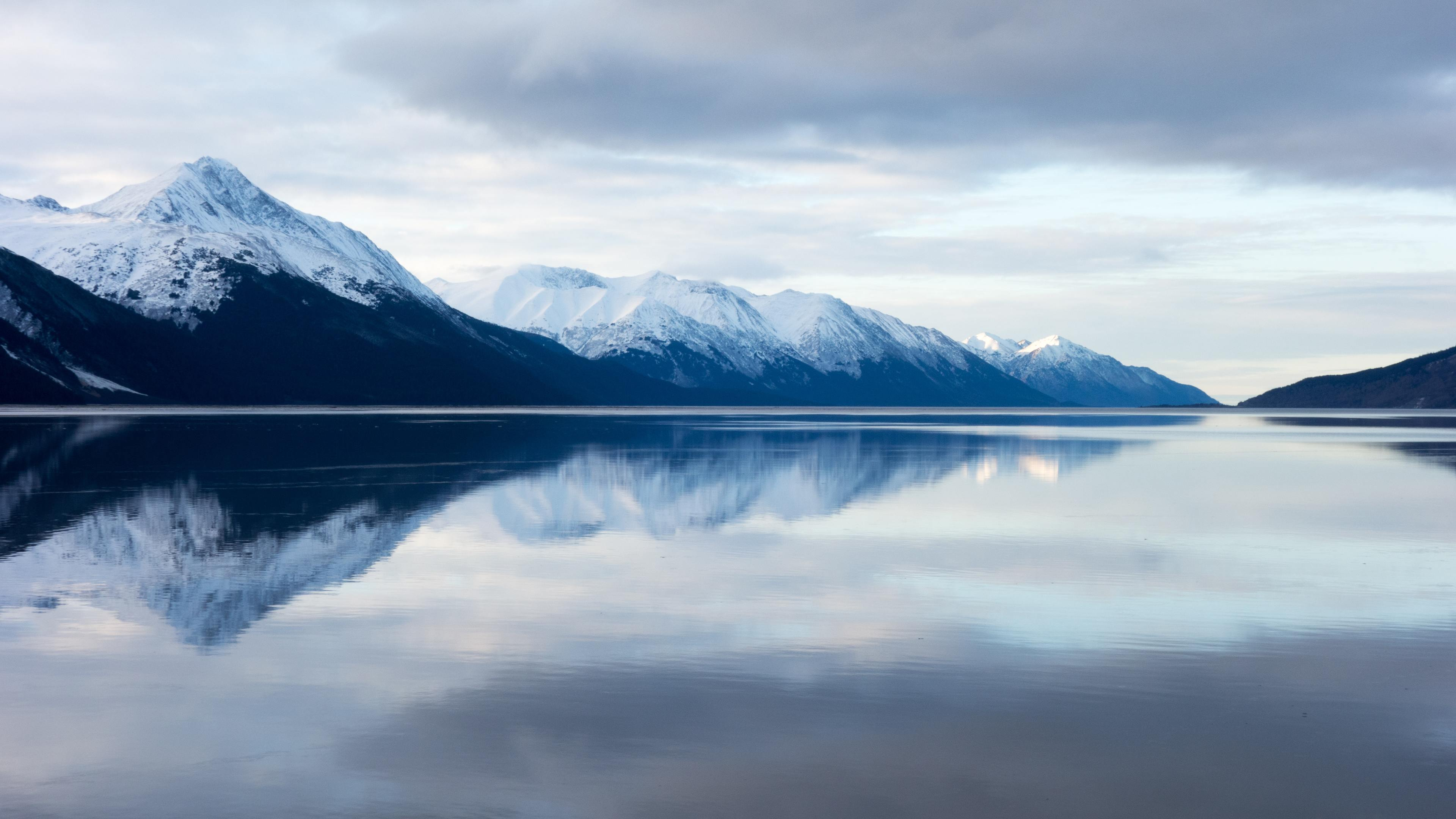 snow capped mountains 1540141535 - Snow Capped Mountains - snow wallpapers, reflection wallpapers, nature wallpapers, mountains wallpapers, hd-wallpapers, 5k wallpapers, 4k-wallpapers