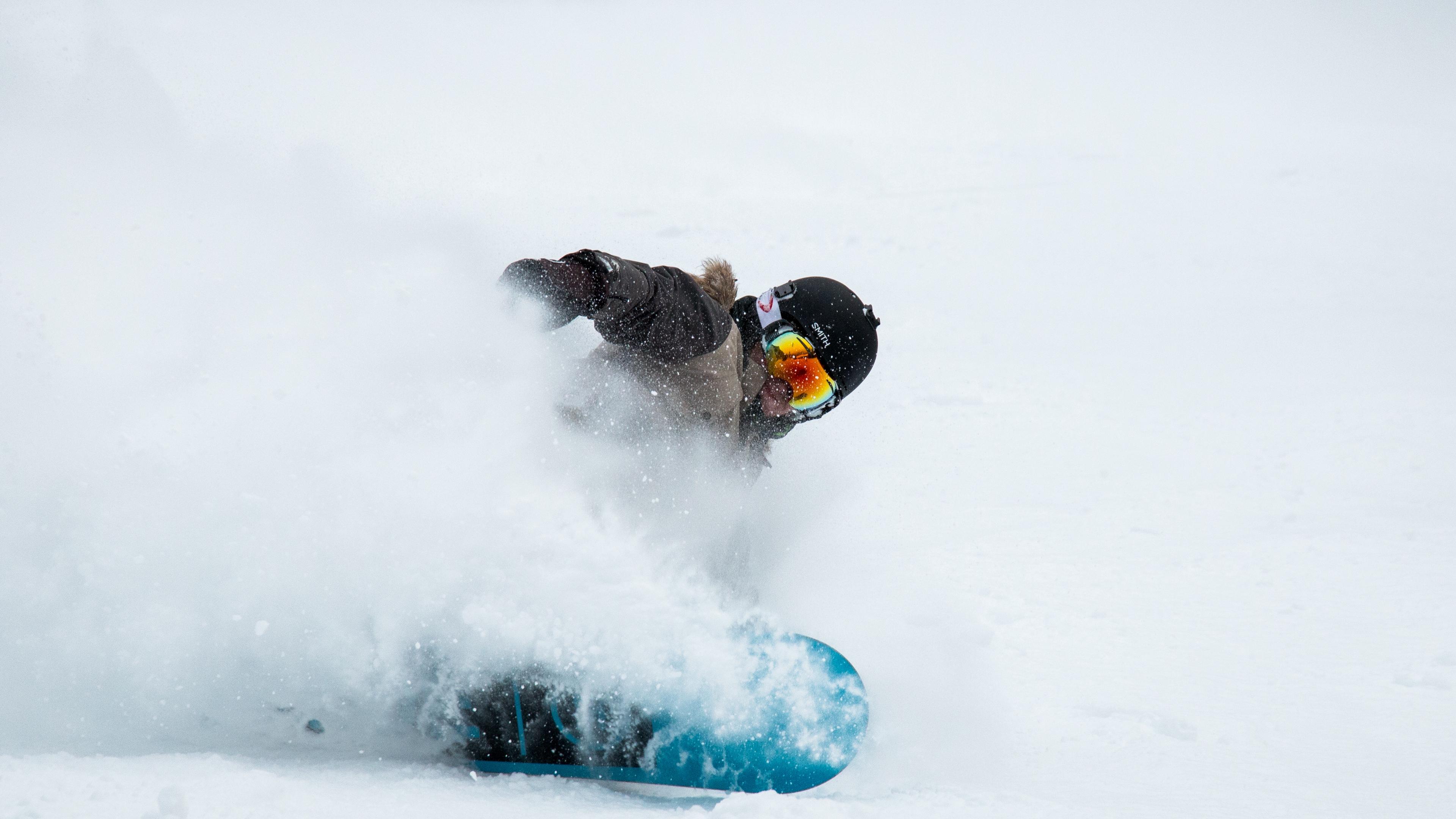 snowboarder snow helmet glasses 4k 1540061543 - snowboarder, snow, helmet, glasses 4k - snowboarder, Snow, helmet