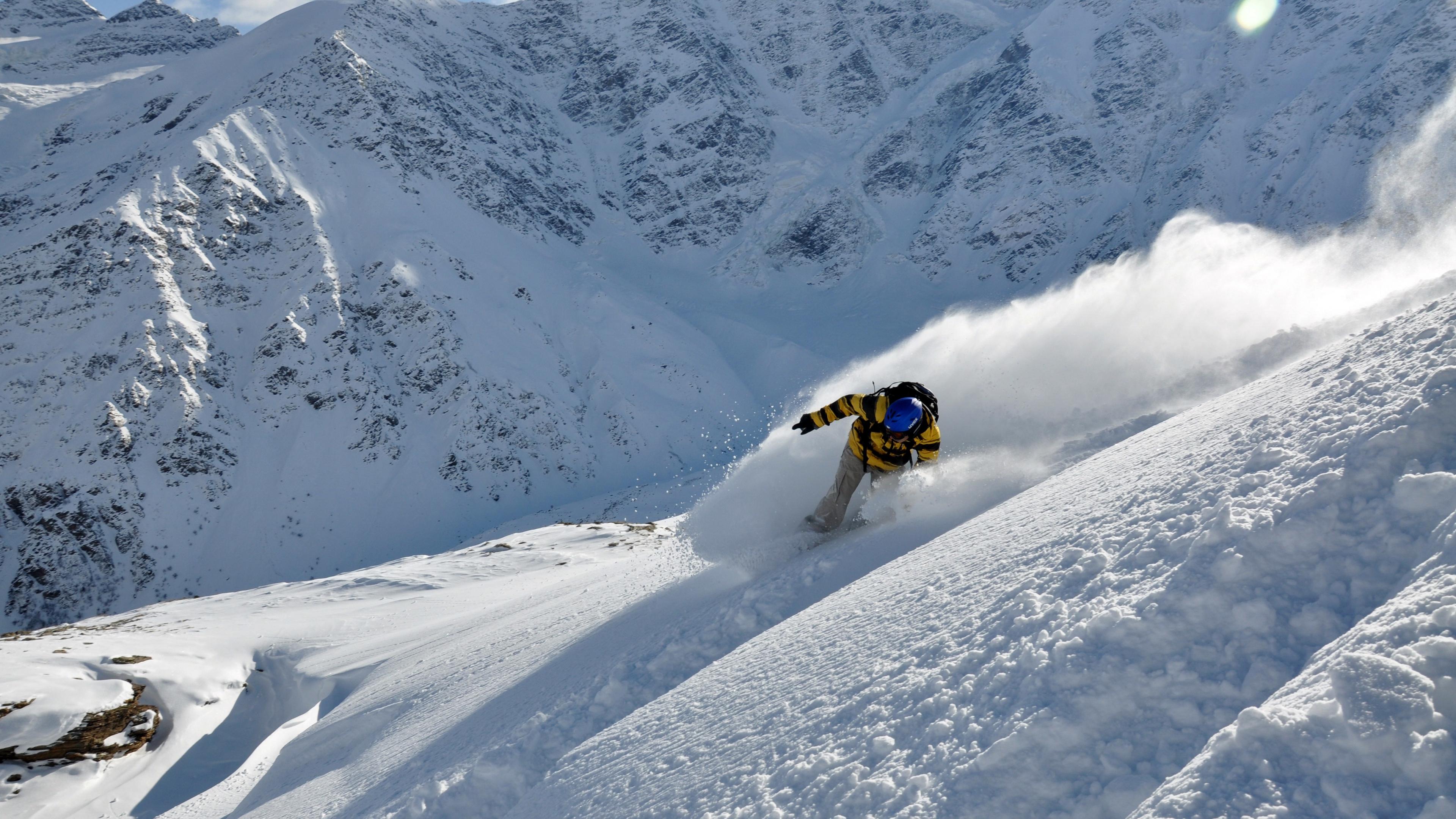 snowboarder snow mountains 4k 1540063277 - snowboarder, snow, mountains 4k - snowboarder, Snow, Mountains