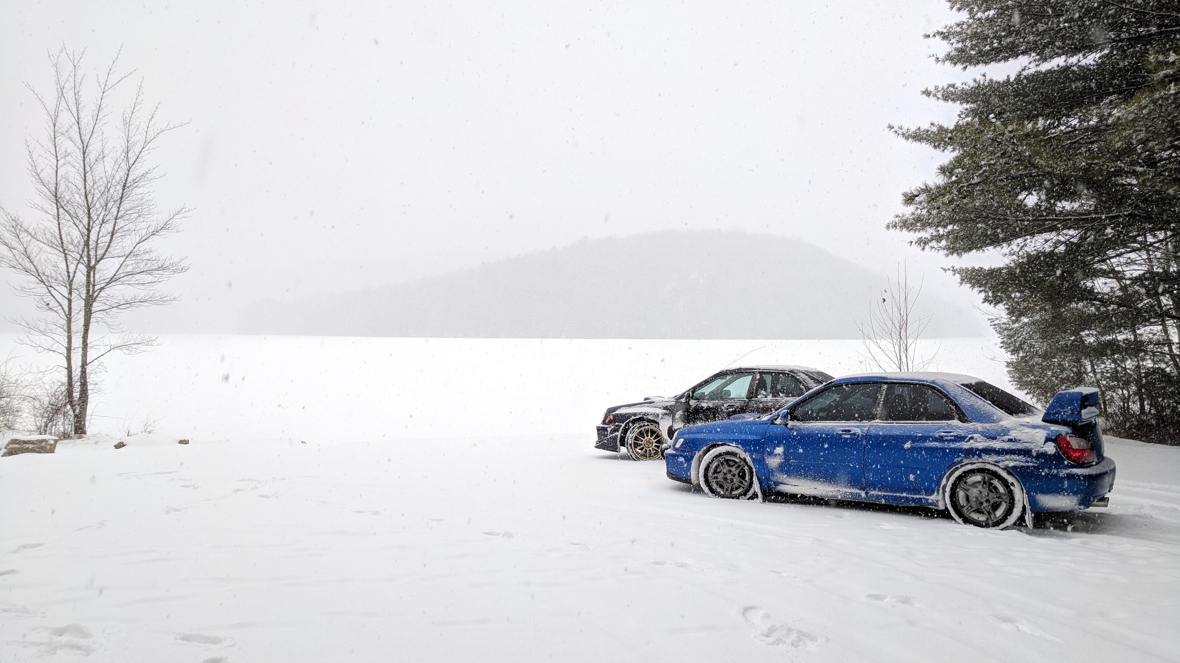 snowy subarus 1539109315 - Snowy Subarus - subaru wallpapers, snow wallpapers, hd-wallpapers, cars wallpapers, 4k-wallpapers