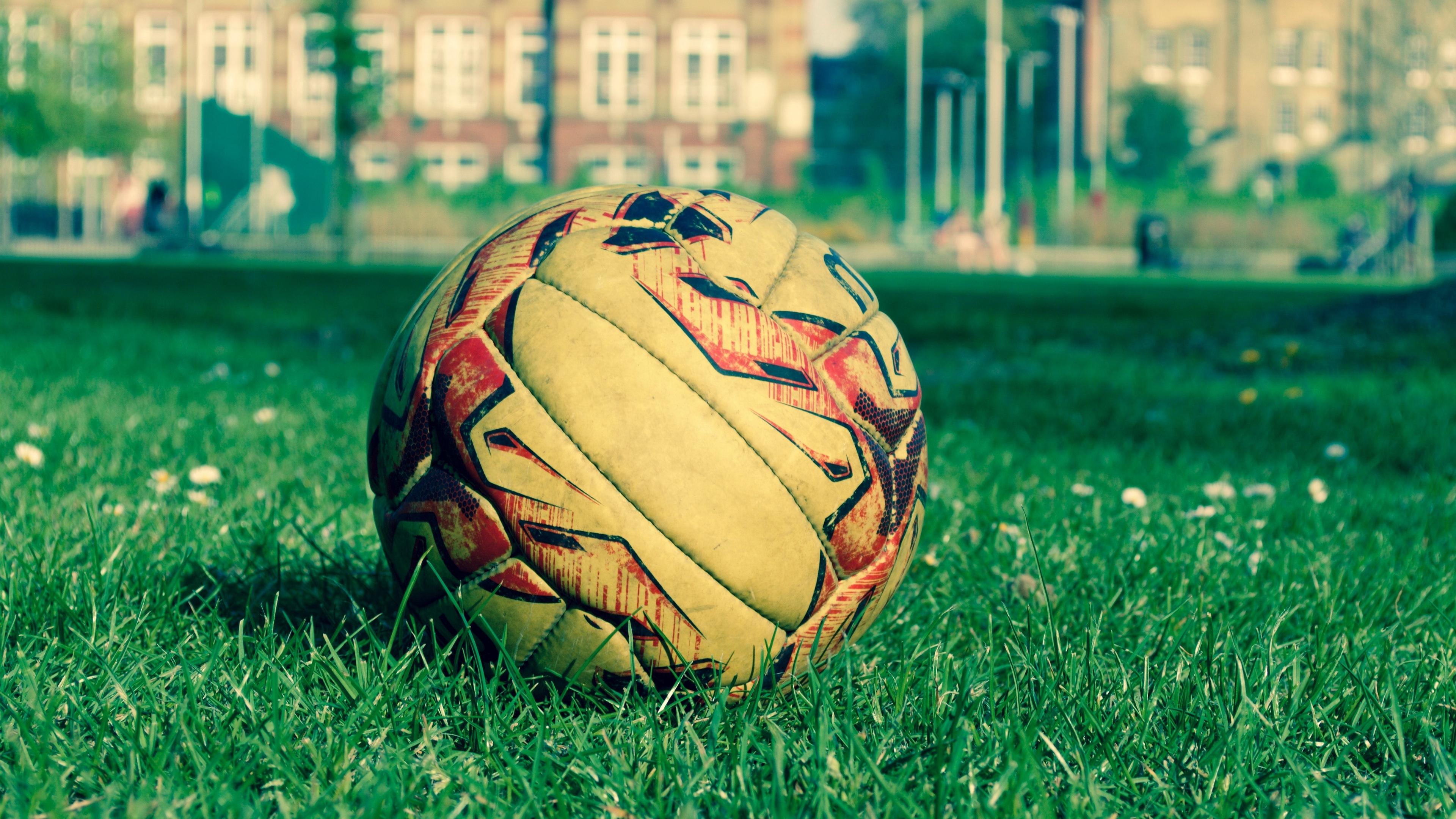 soccer ball field grass lawn 4k 1540061559 - soccer ball, field, grass, lawn 4k - soccer ball, Grass, Field