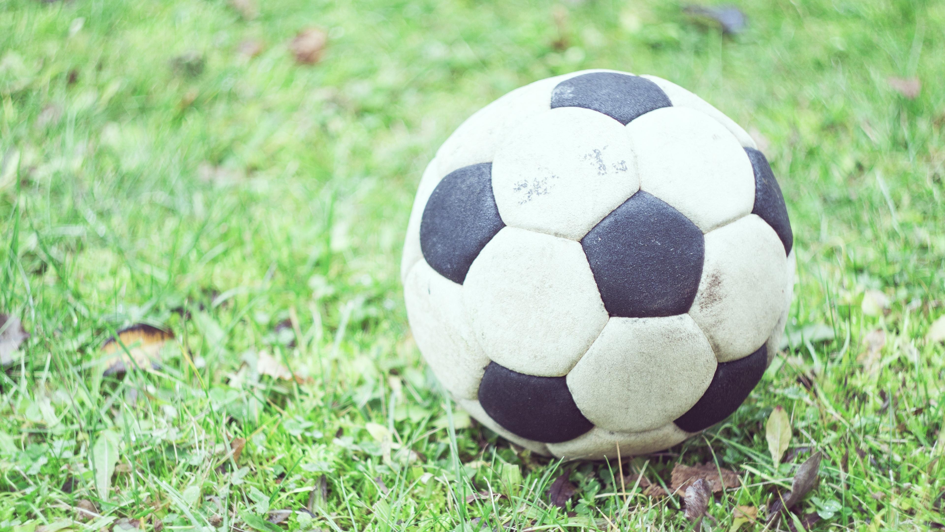soccer ball football grass blur 4k 1540062194 - soccer ball, football, grass, blur 4k - soccer ball, Grass, Football