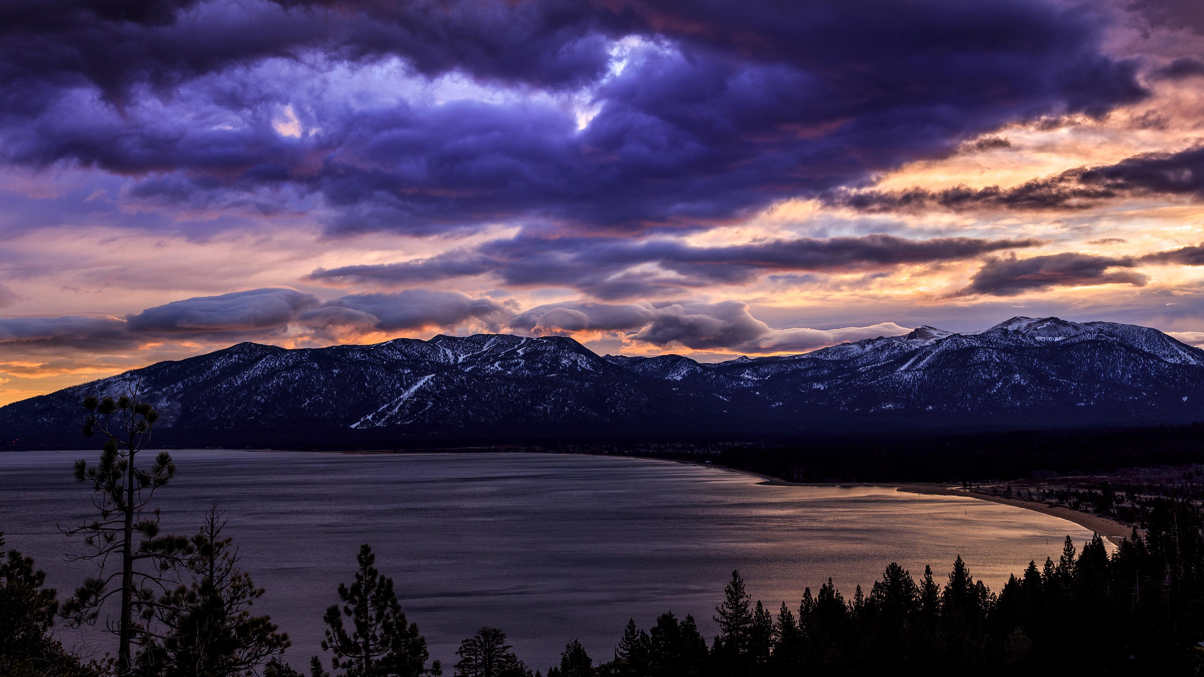 2048x2048 Lake Ultra Hd 4k Ipad Air Hd 4k Wallpapers: South Lake Tahoe 4k Sunrise Wallpapers, Sky Wallpapers