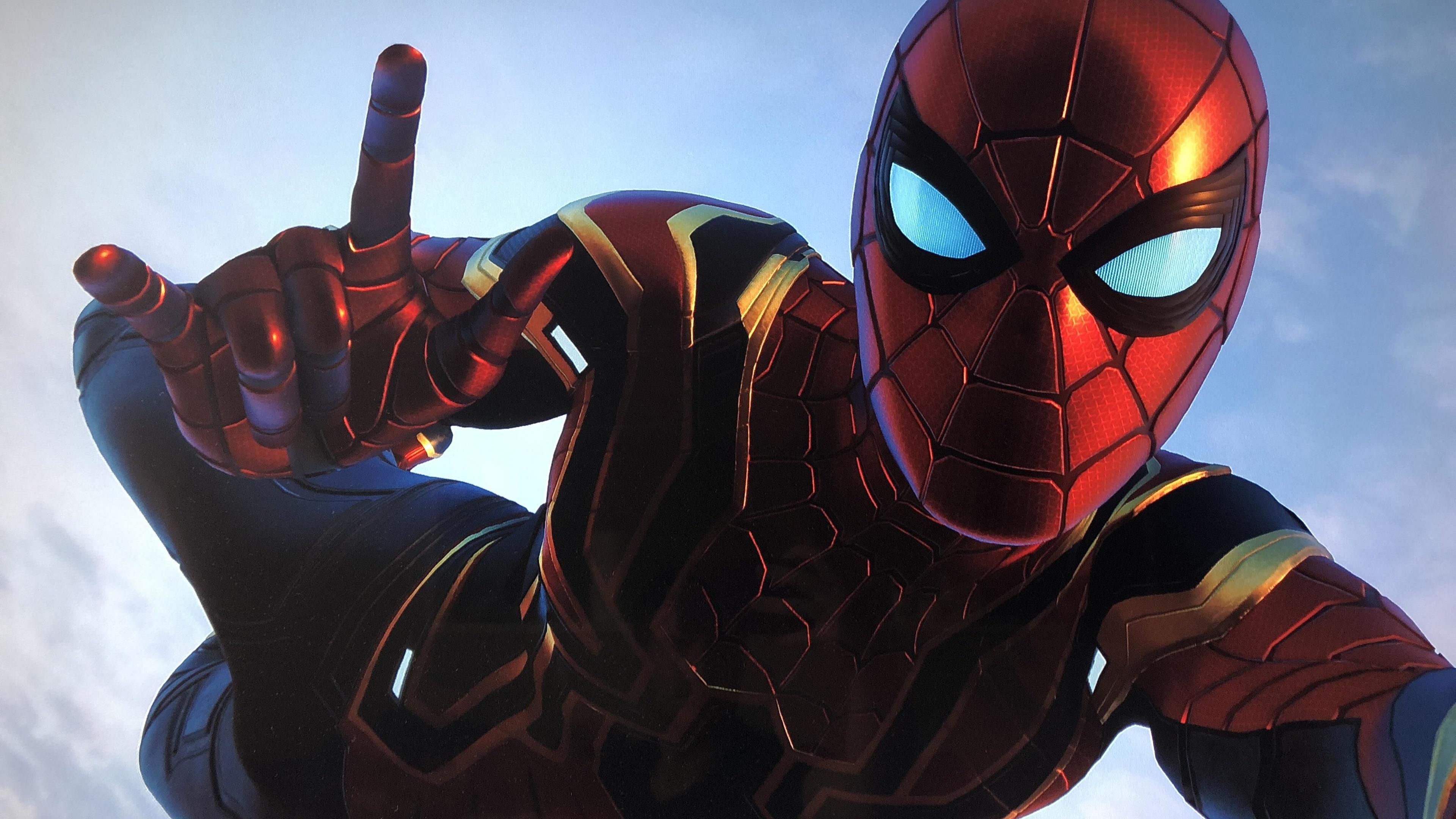 spiderman iron stark suit superheroes wallpapers