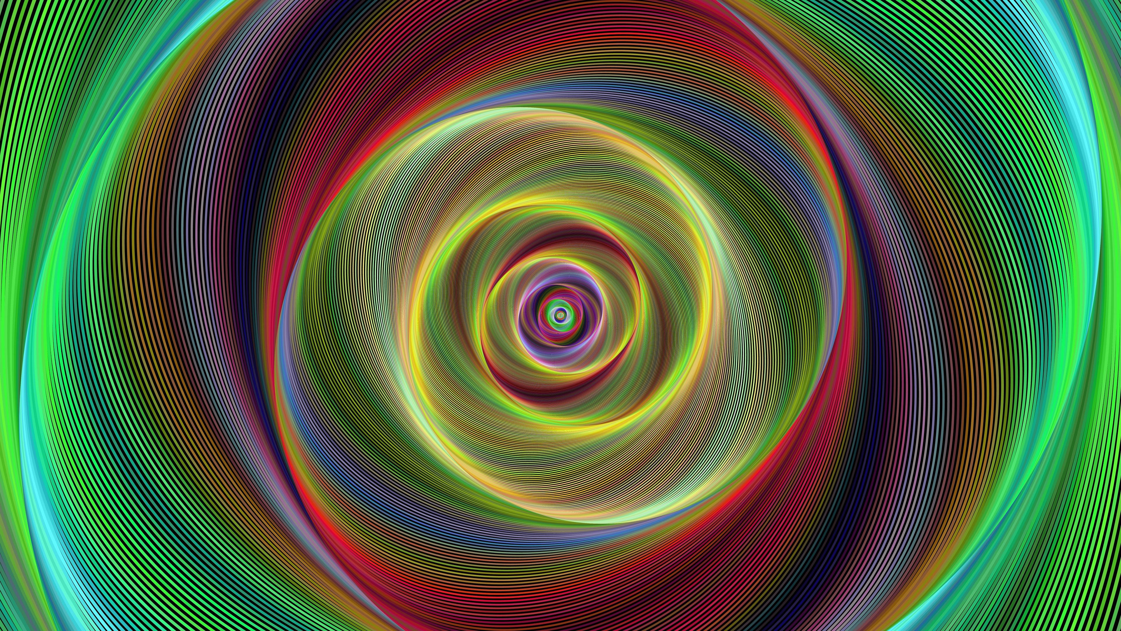 spiral rotation fractal lines 4k 1539369646 - spiral, rotation, fractal, lines 4k - Spiral, rotation, Fractal