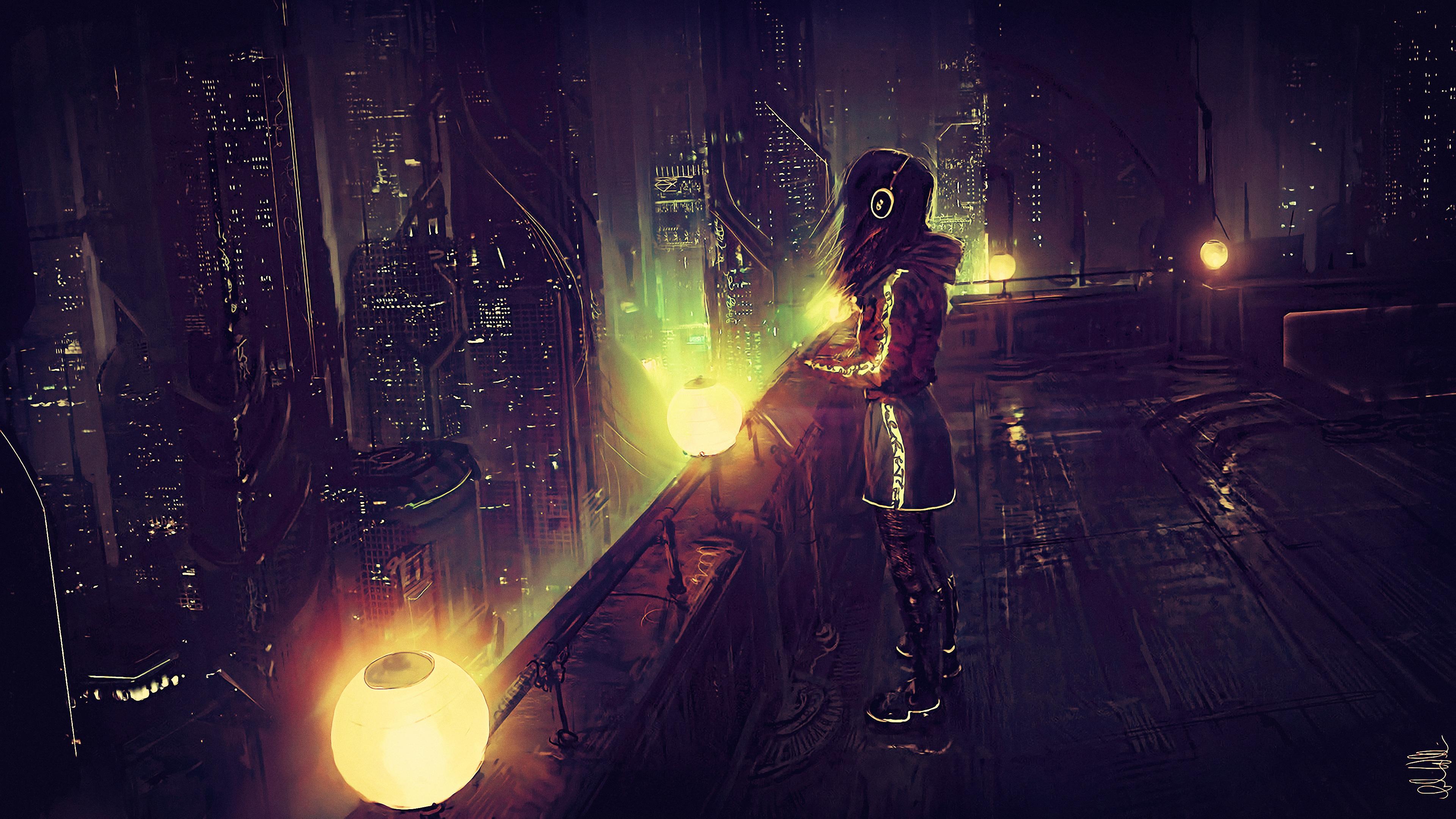 standing on terraces scifi cyberpunk 4k 1540754371 - Standing On Terraces Scifi Cyberpunk 4k - scifi wallpapers, hd-wallpapers, digital art wallpapers, cyberpunk wallpapers, artwork wallpapers, artist wallpapers, 4k-wallpapers