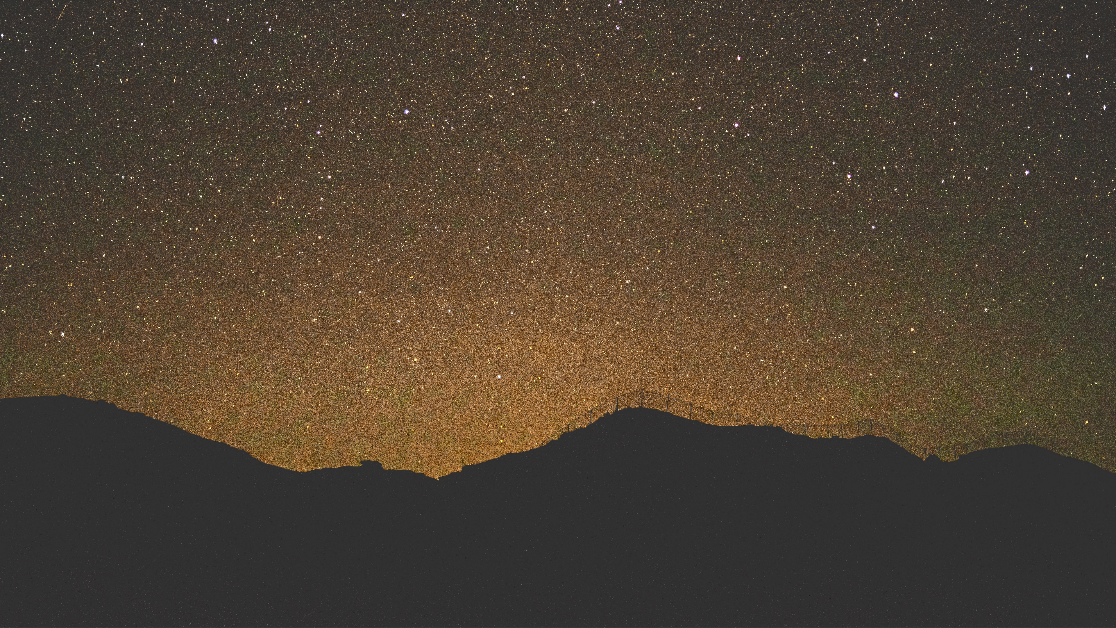 starry sky horizon night 4k 1540575279 - starry sky, horizon, night 4k - starry sky, Night, Horizon