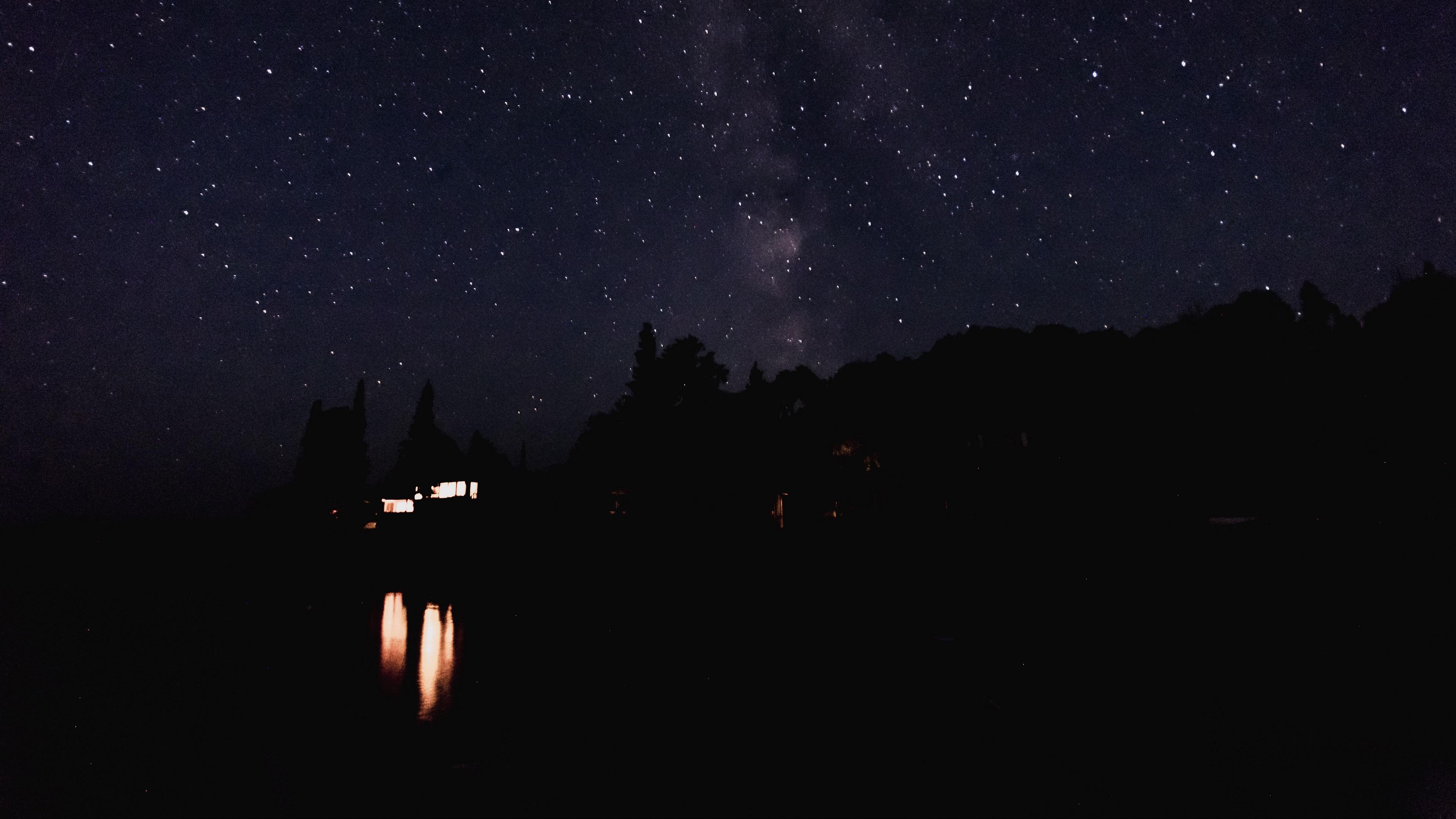 starry sky night lights sky 4k 1540574386 - starry sky, night, lights, sky 4k - starry sky, Night, Lights
