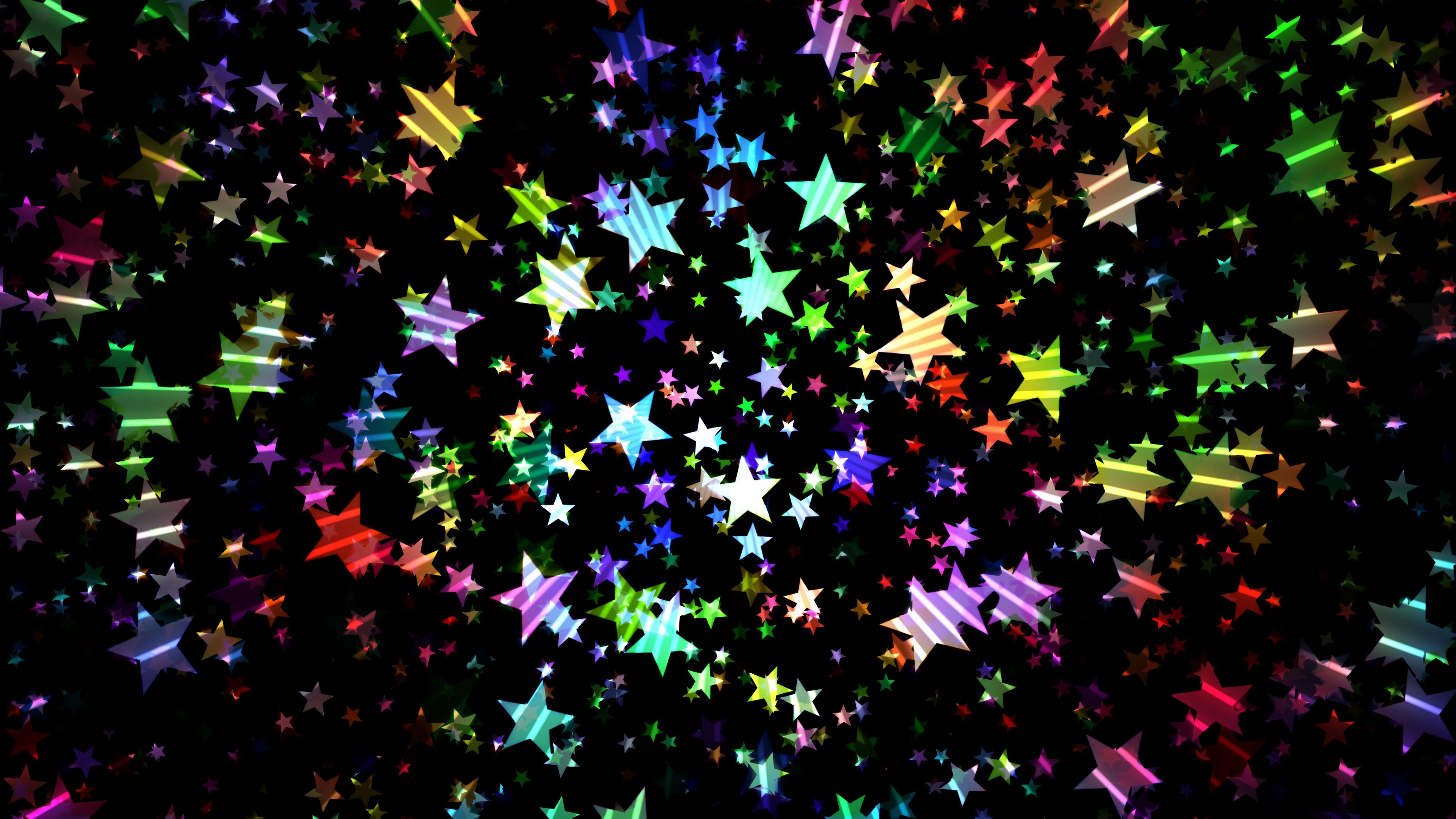 stars colorful shiny bright 4k 1539369990 - stars, colorful, shiny, bright 4k - Stars, shiny, Colorful