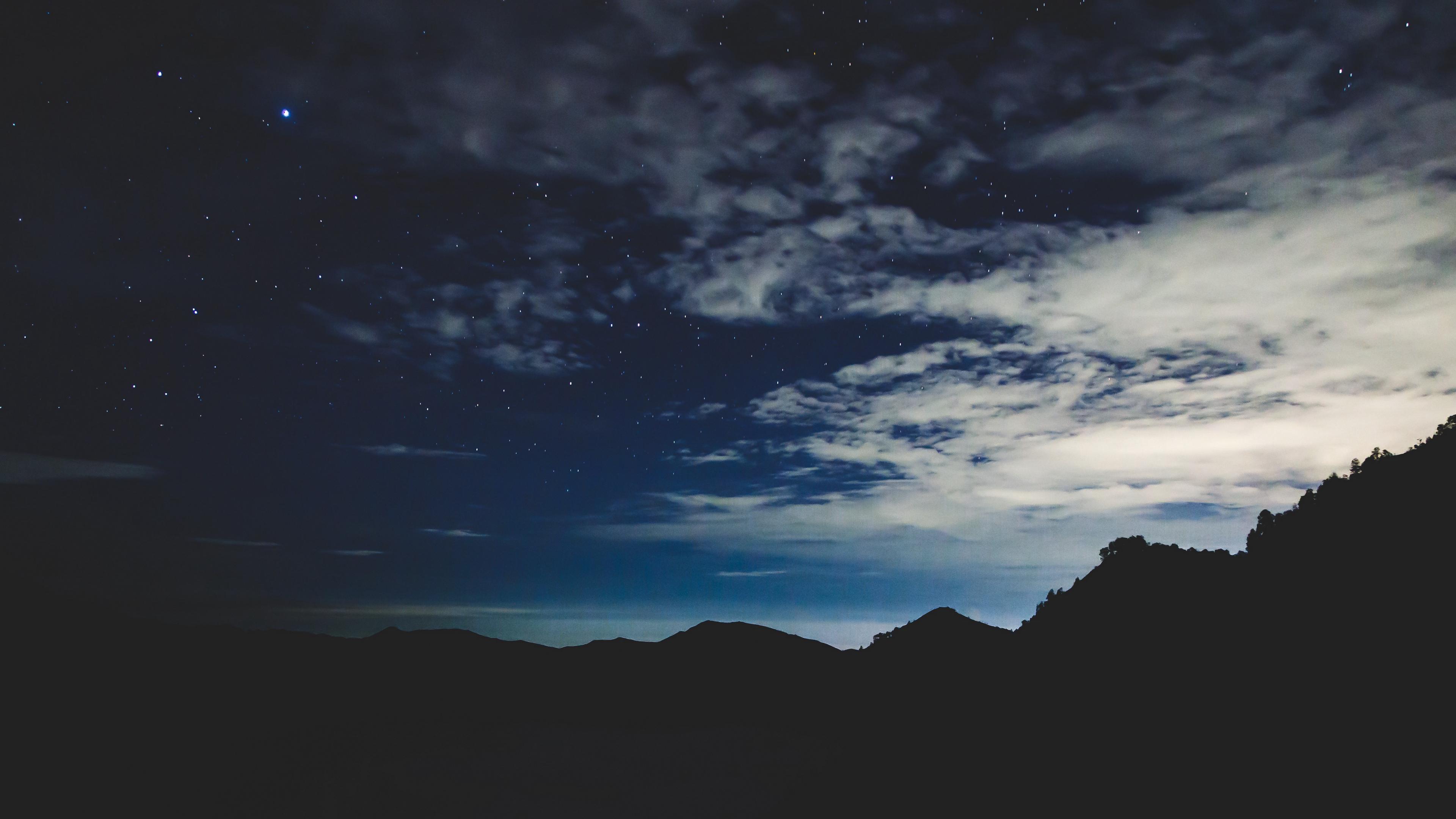 stars night sky mountains 4k 1540576080 - stars, night, sky, mountains 4k - Stars, Sky, Night