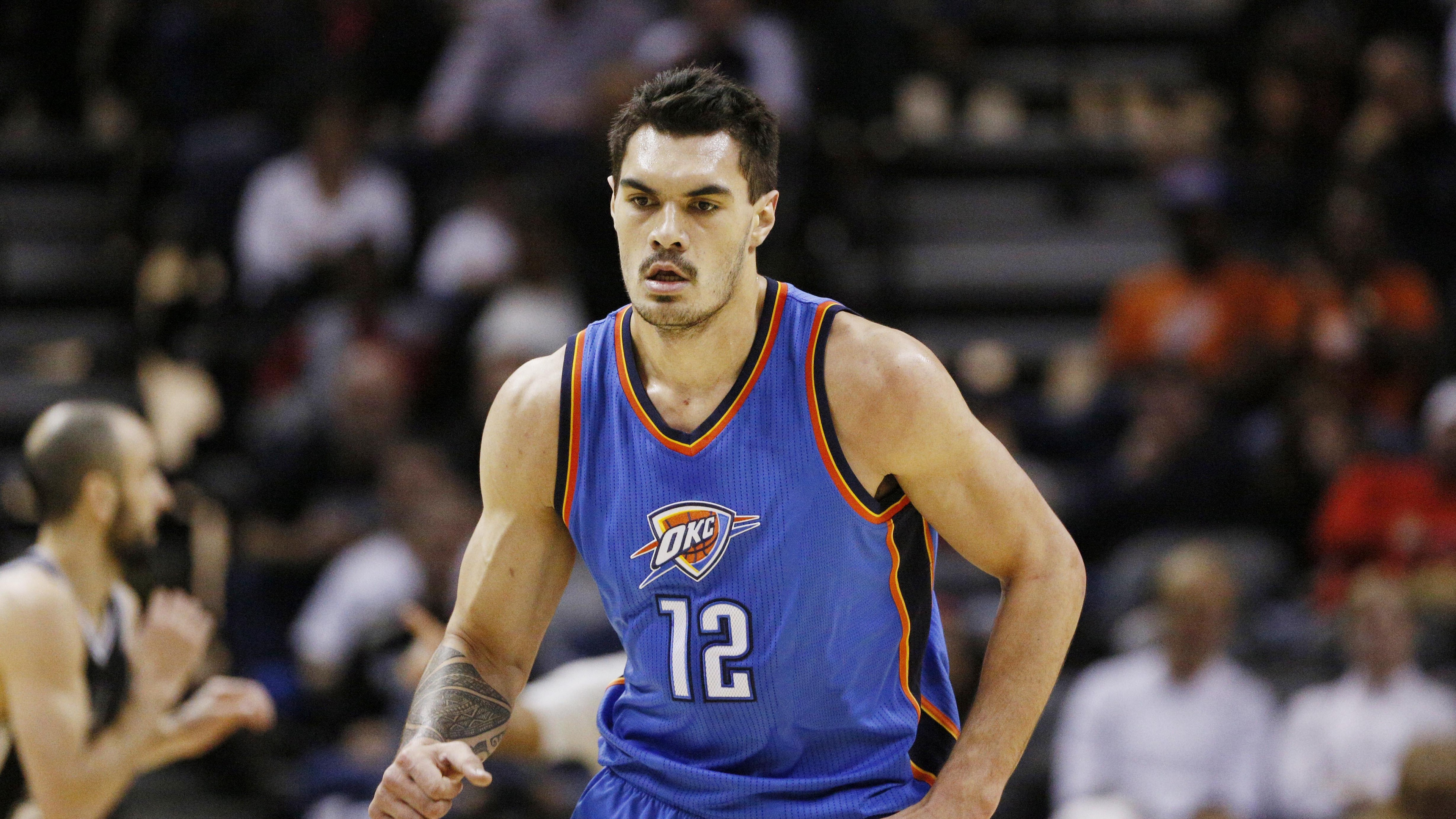 steven adams basketball oklahoma city thunder 4k 1540060870 - steven adams, basketball, oklahoma city thunder 4k - steven adams, oklahoma city thunder, Basketball