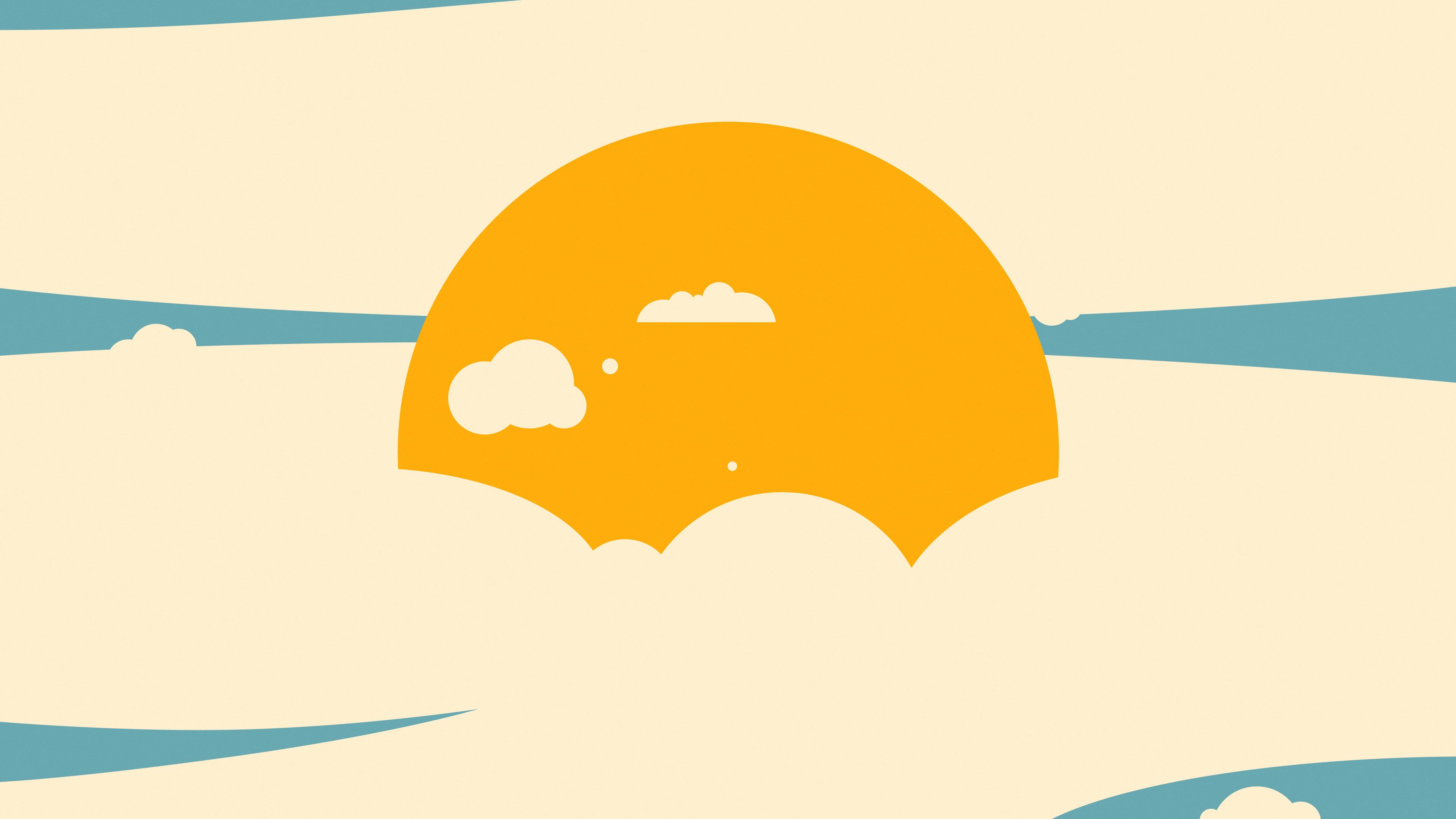 sun in clouds minimalism 4k 1540754981 - Sun In Clouds Minimalism 4k - sun wallpapers, minimalism wallpapers, hd-wallpapers, digital art wallpapers, deviantart wallpapers, clouds wallpapers, artwork wallpapers, artist wallpapers, 4k-wallpapers