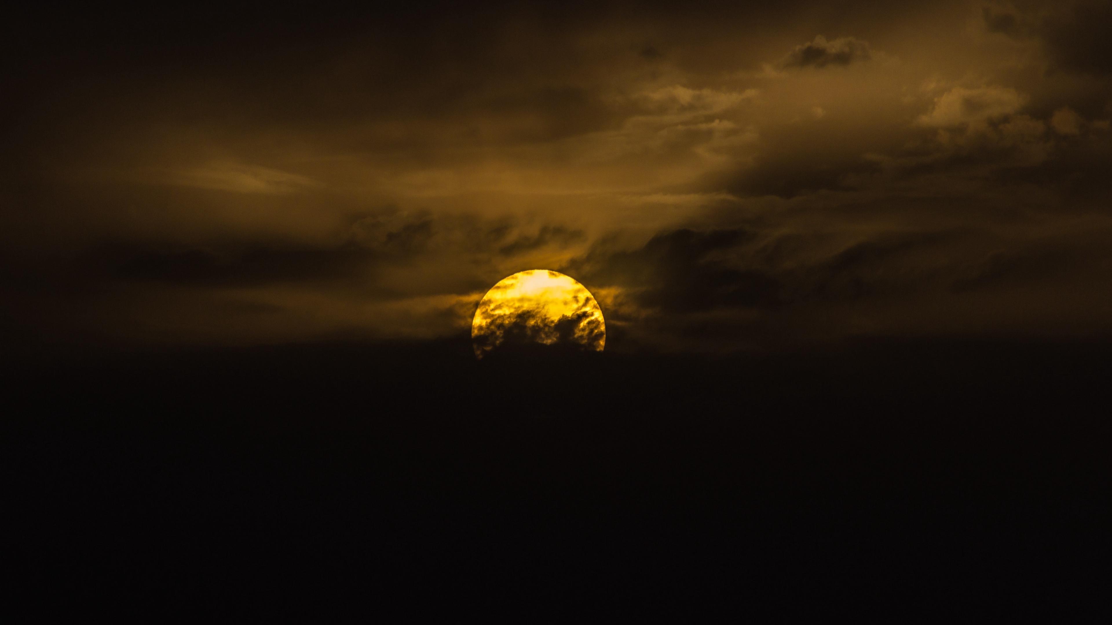 sun sunset clouds sky 4k 1540575210 - sun, sunset, clouds, sky 4k - sunset, Sun, Clouds