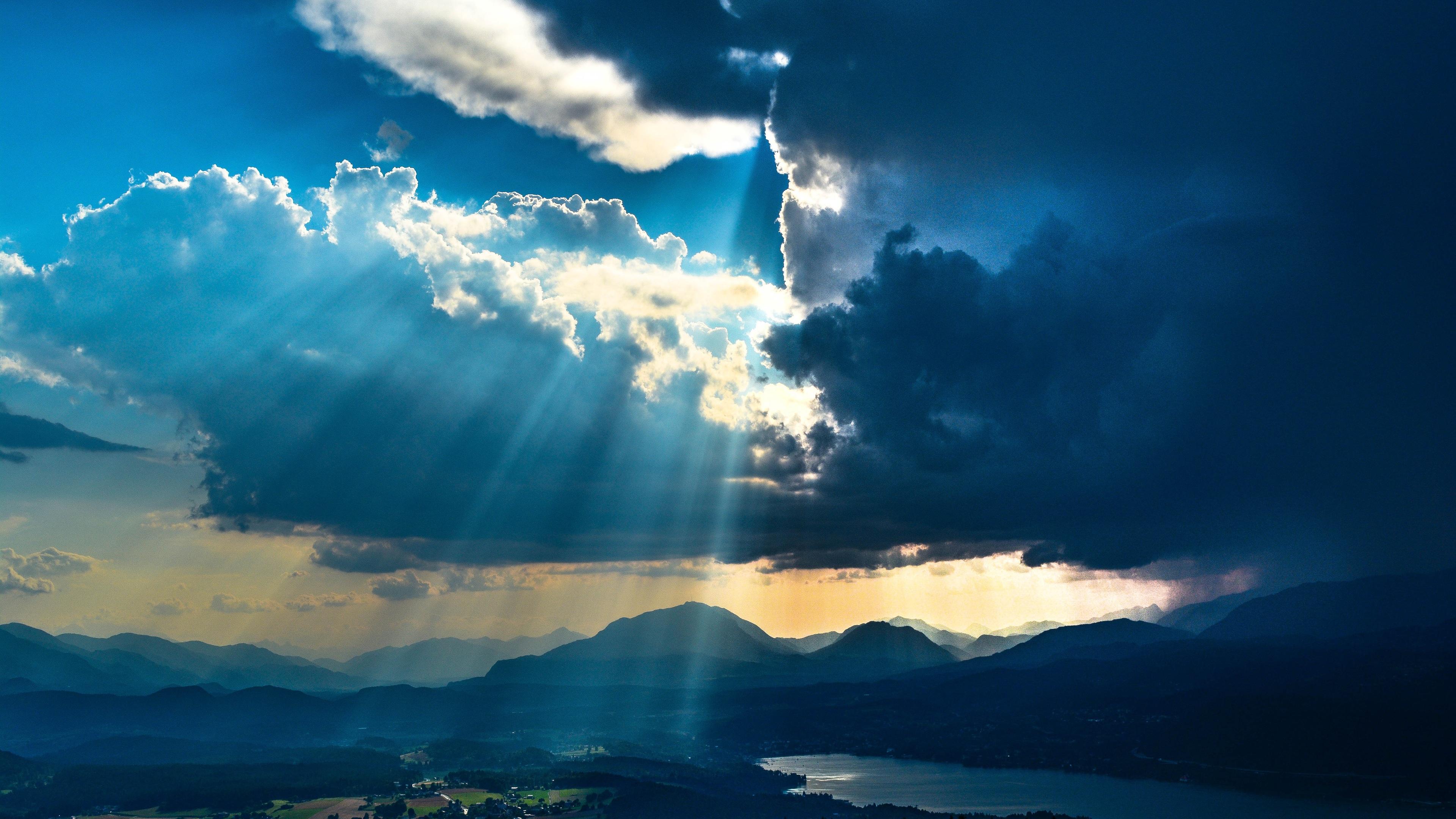 sunbeams from sky landscape mountains 4k 1540137267 - Sunbeams From Sky Landscape Mountains 4k - sunbeam wallpapers, nature wallpapers, mountains wallpapers, landscape wallpapers, hd-wallpapers, 5k wallpapers, 4k-wallpapers