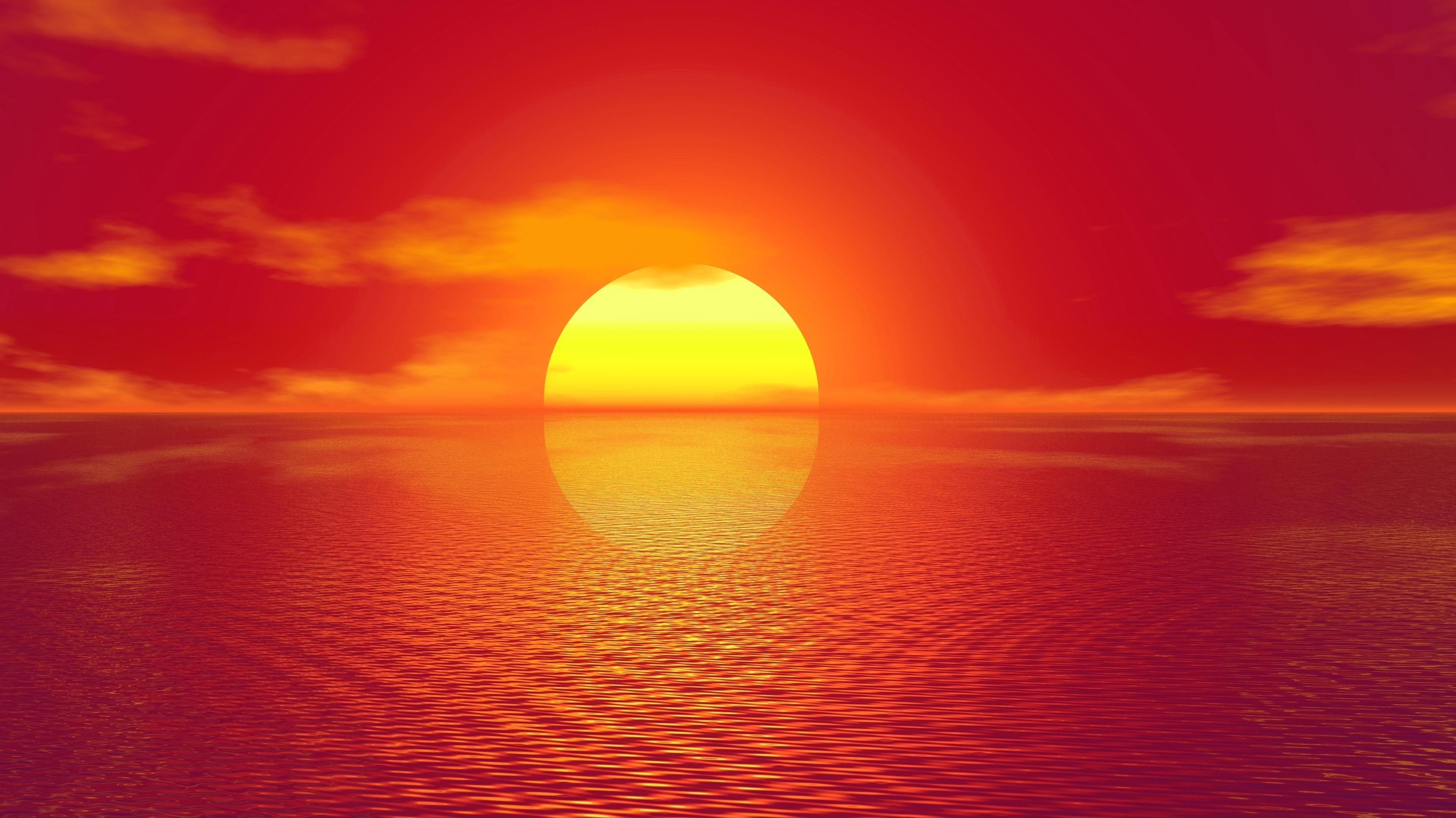 sunset artistic 4k 1540750108 - Sunset Artistic 4k - water wallpapers, sunset wallpapers, reflection wallpapers, orange wallpapers, hd-wallpapers, artwork wallpapers, artistic wallpapers, artist wallpapers