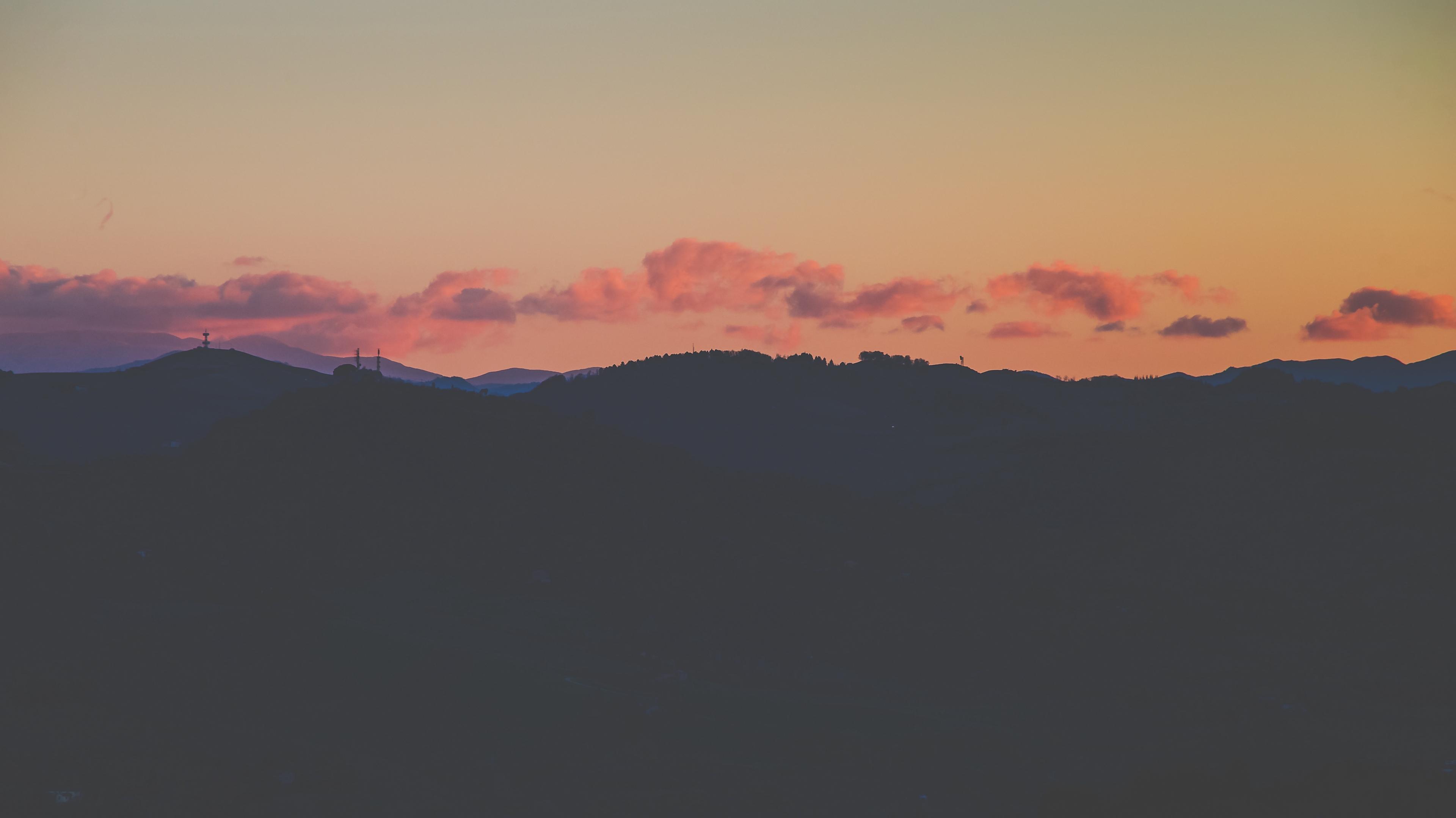 sunset horizon sky clouds night 4k 1540575336 - sunset, horizon, sky, clouds, night 4k - sunset, Sky, Horizon