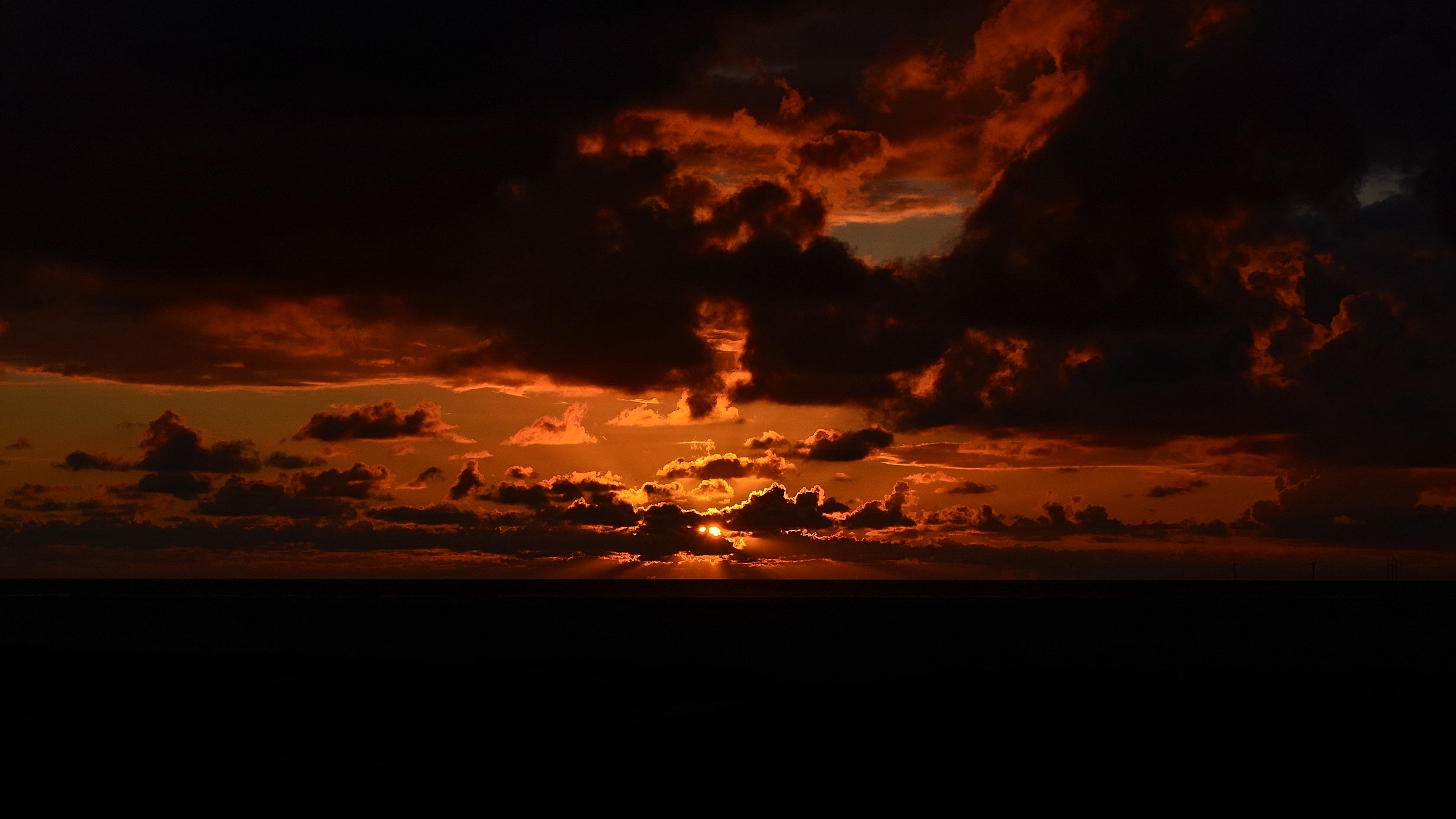 sunset sky clouds night 4k 1540574954 - sunset, sky, clouds, night 4k - sunset, Sky, Clouds