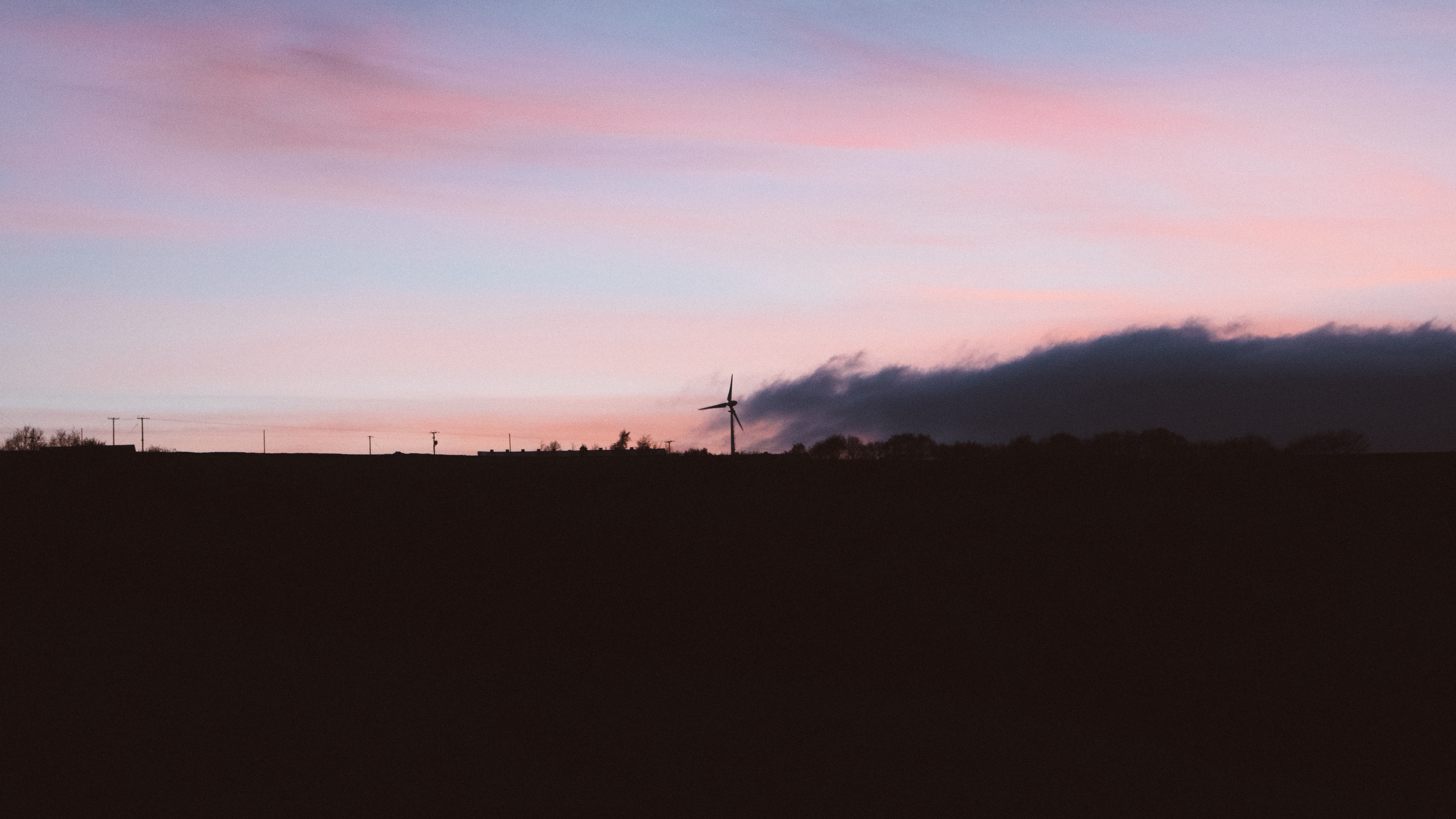 sunset sky wind generator 4k 1540574449 - sunset, sky, wind generator 4k - wind generator, sunset, Sky