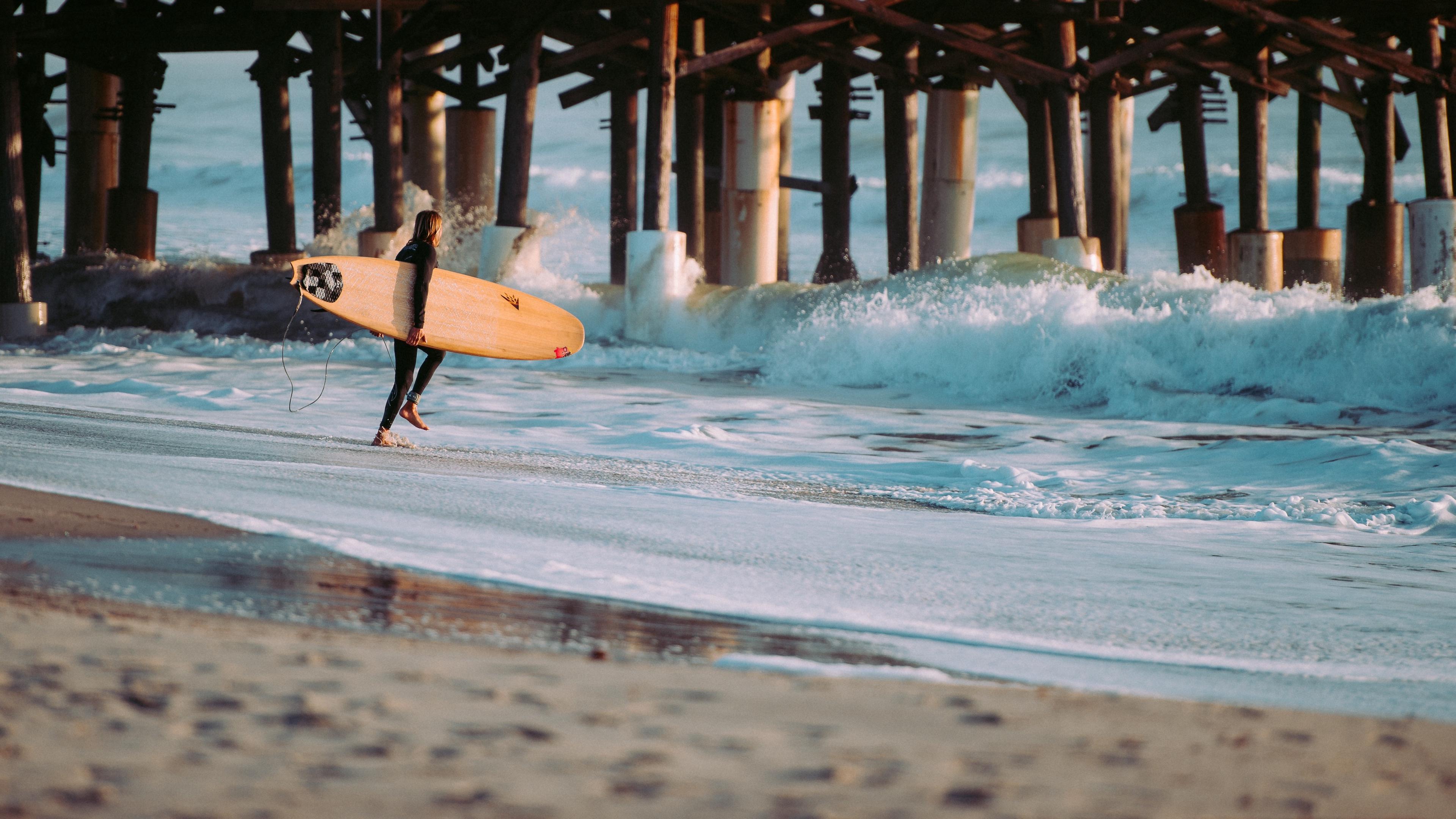 surfing surfer sea waves 4k 1540061546 - surfing, surfer, sea, waves 4k - Surfing, Surfer, Sea