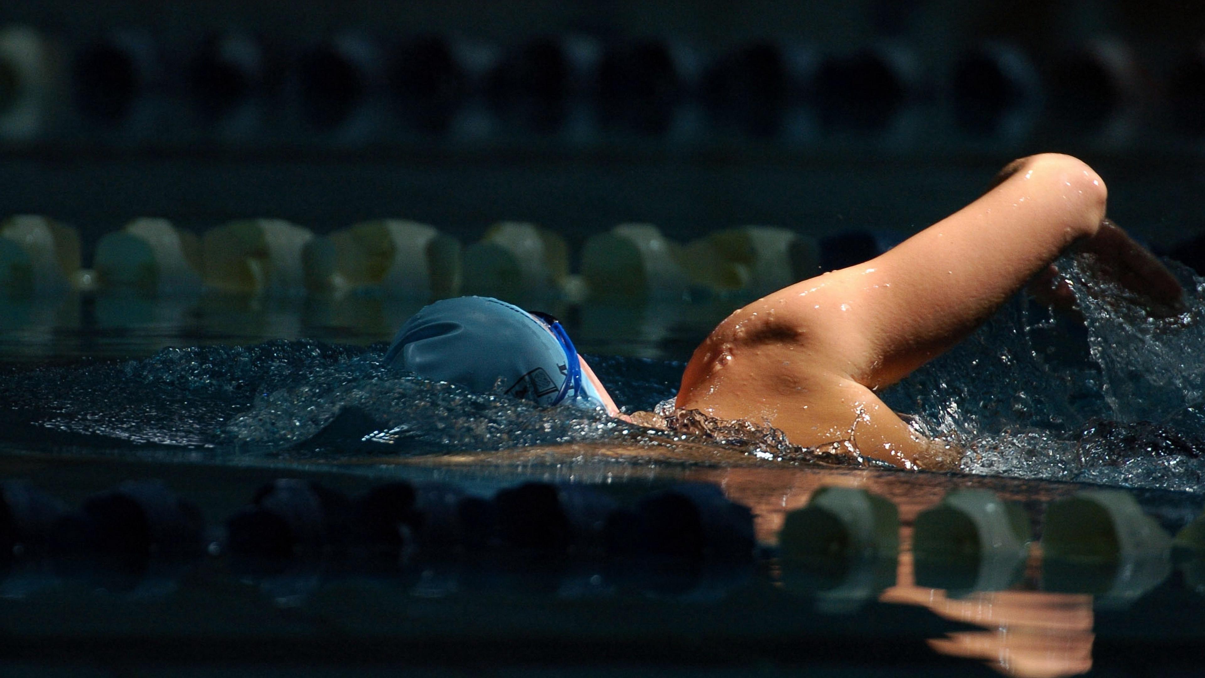 swimmer swimming pool night 4k 1540062993 - swimmer, swimming pool, night 4k - swimming pool, swimmer, Night