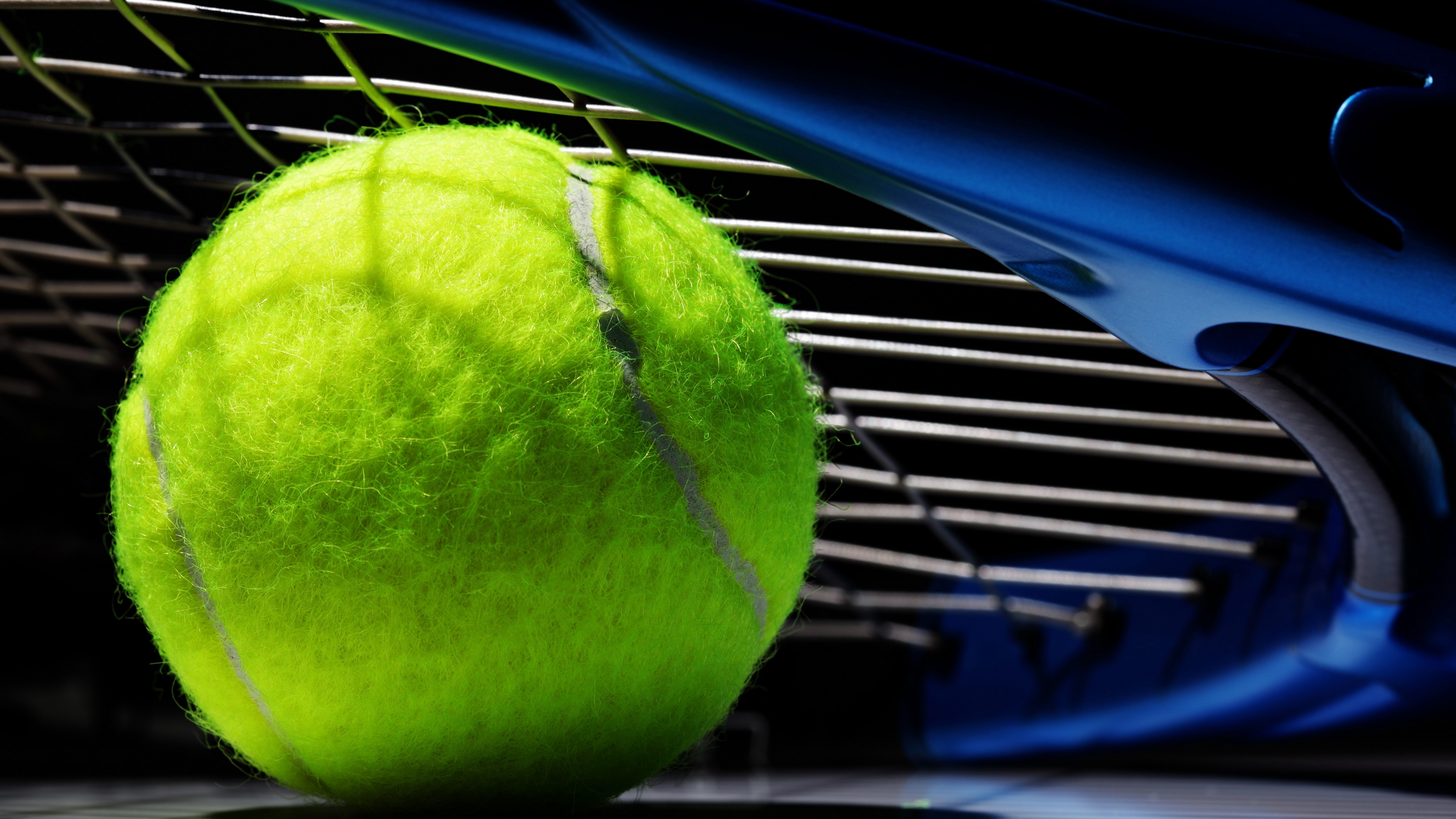 tennis ball bat black background 4k 1540063025 - tennis, ball, bat, black background 4k - Tennis, Bat, Ball