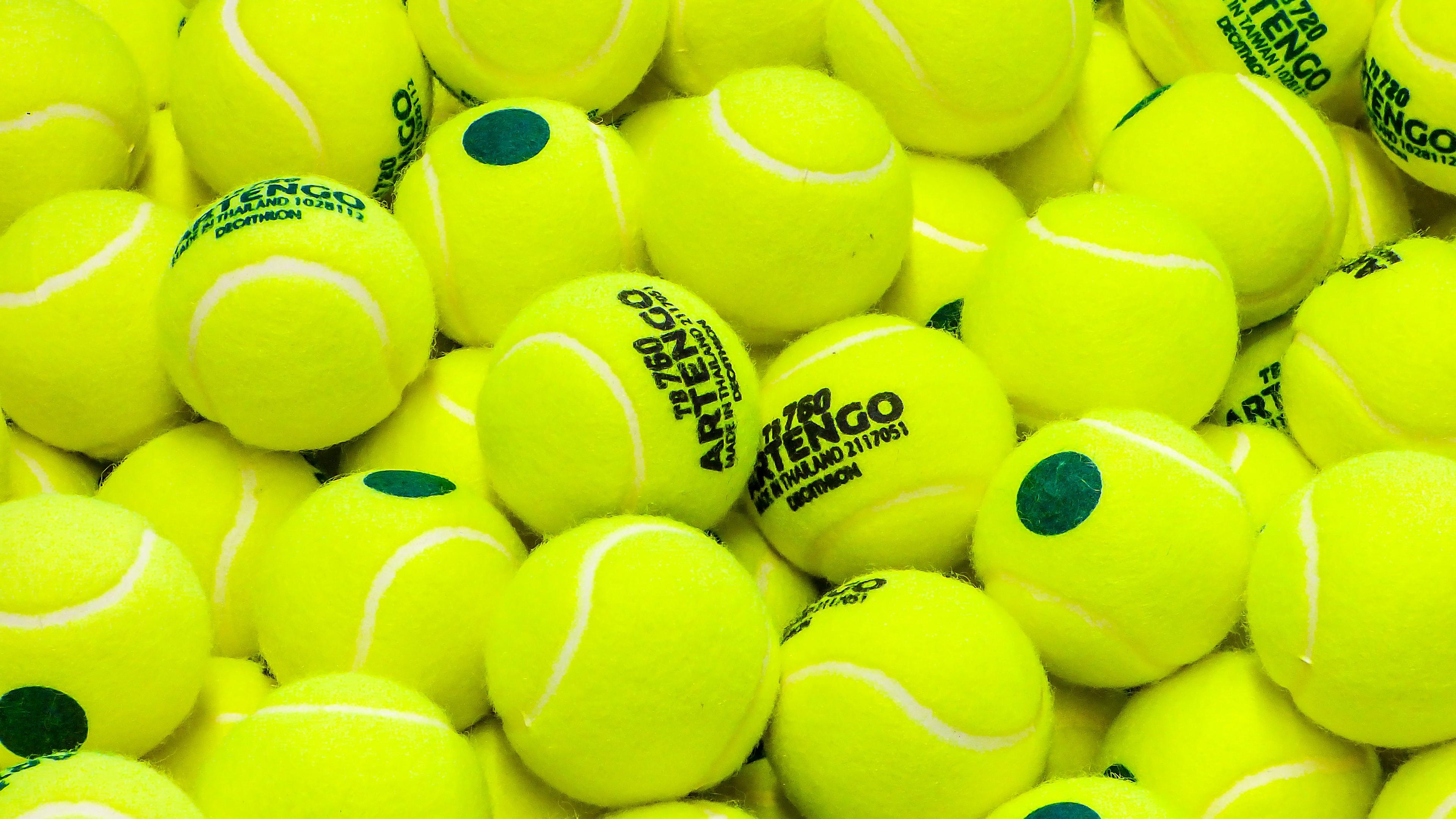 tennis balls sport lime green yellow 4k 1540062818 - tennis, balls, sport, lime green, yellow 4k - Tennis, Sport, Balls