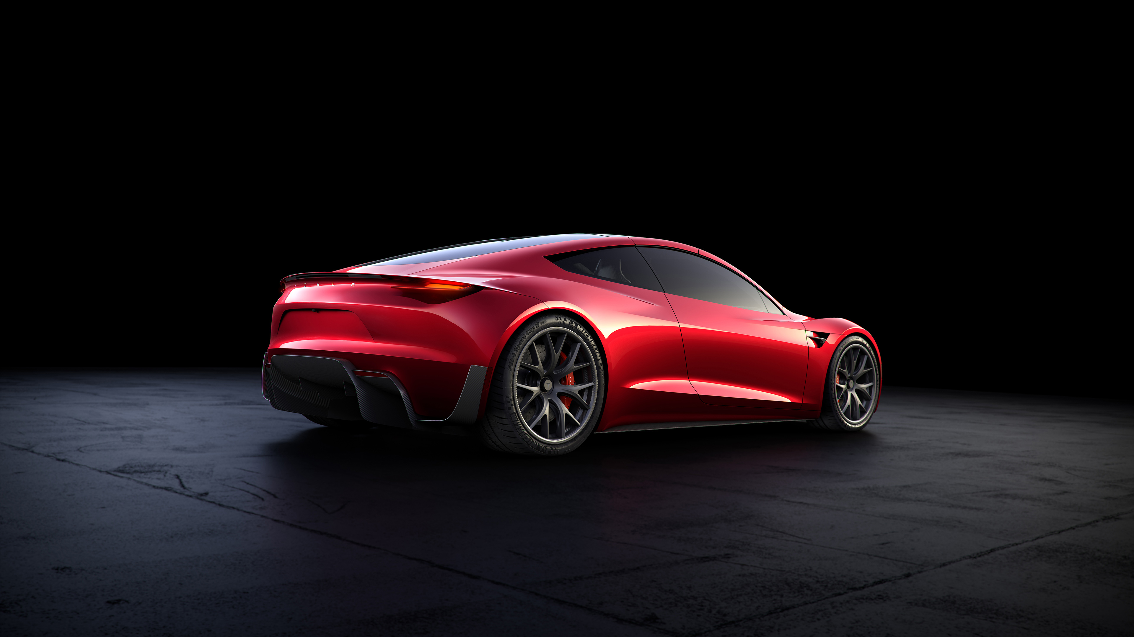 tesla roadster rear look 1539108009 - Tesla Roadster Rear Look - tesla wallpapers, tesla roadster wallpapers, hd-wallpapers, electric cars wallpapers, 4k-wallpapers, 2018 cars wallpapers