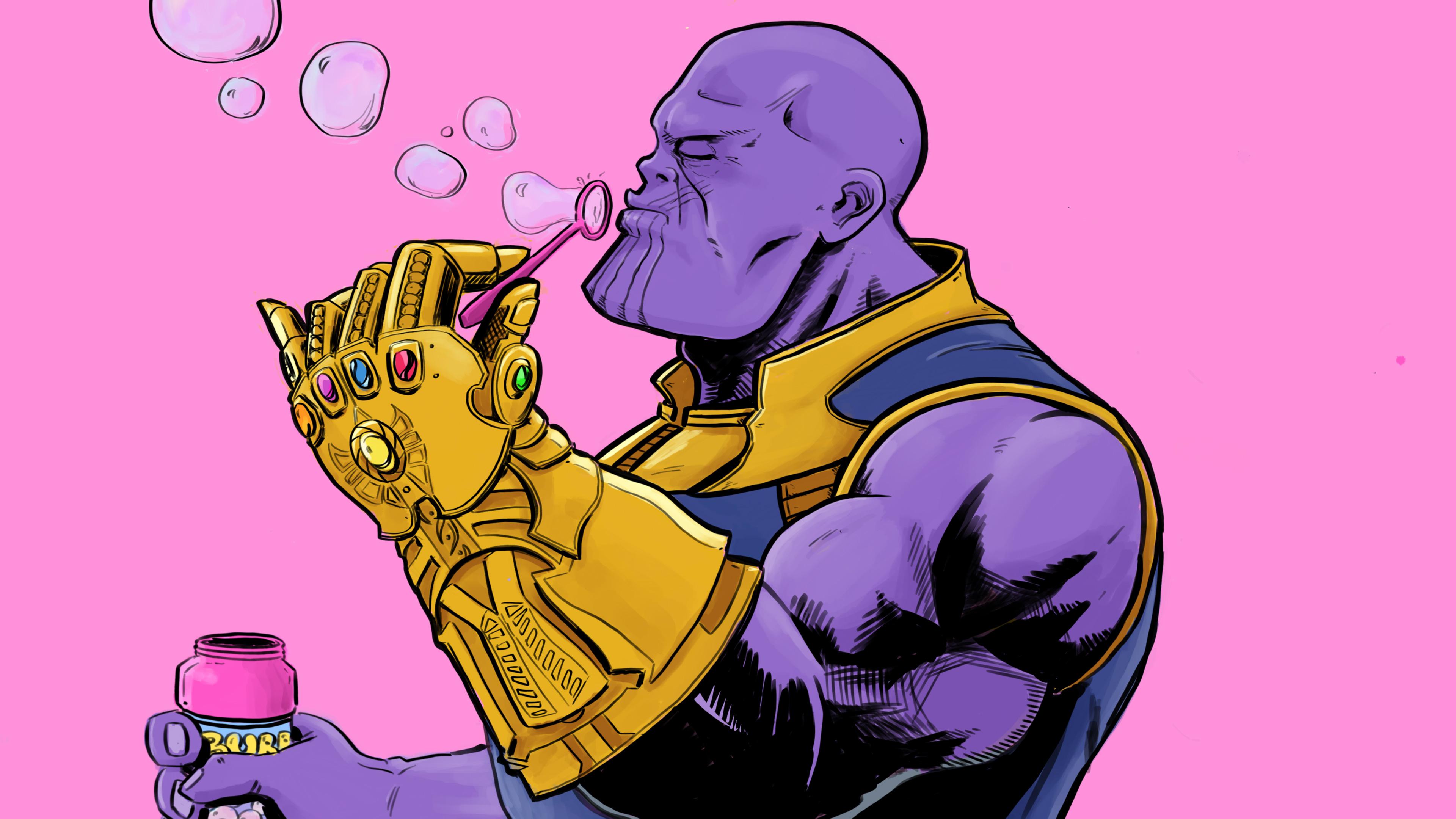 thanos blowing bubbles 1539978576 - Thanos Blowing Bubbles - thanos-wallpapers, supervillain wallpapers, superheroes wallpapers, hd-wallpapers, funny wallpapers, bubbles wallpapers, behance wallpapers, artist wallpapers, 4k-wallpapers