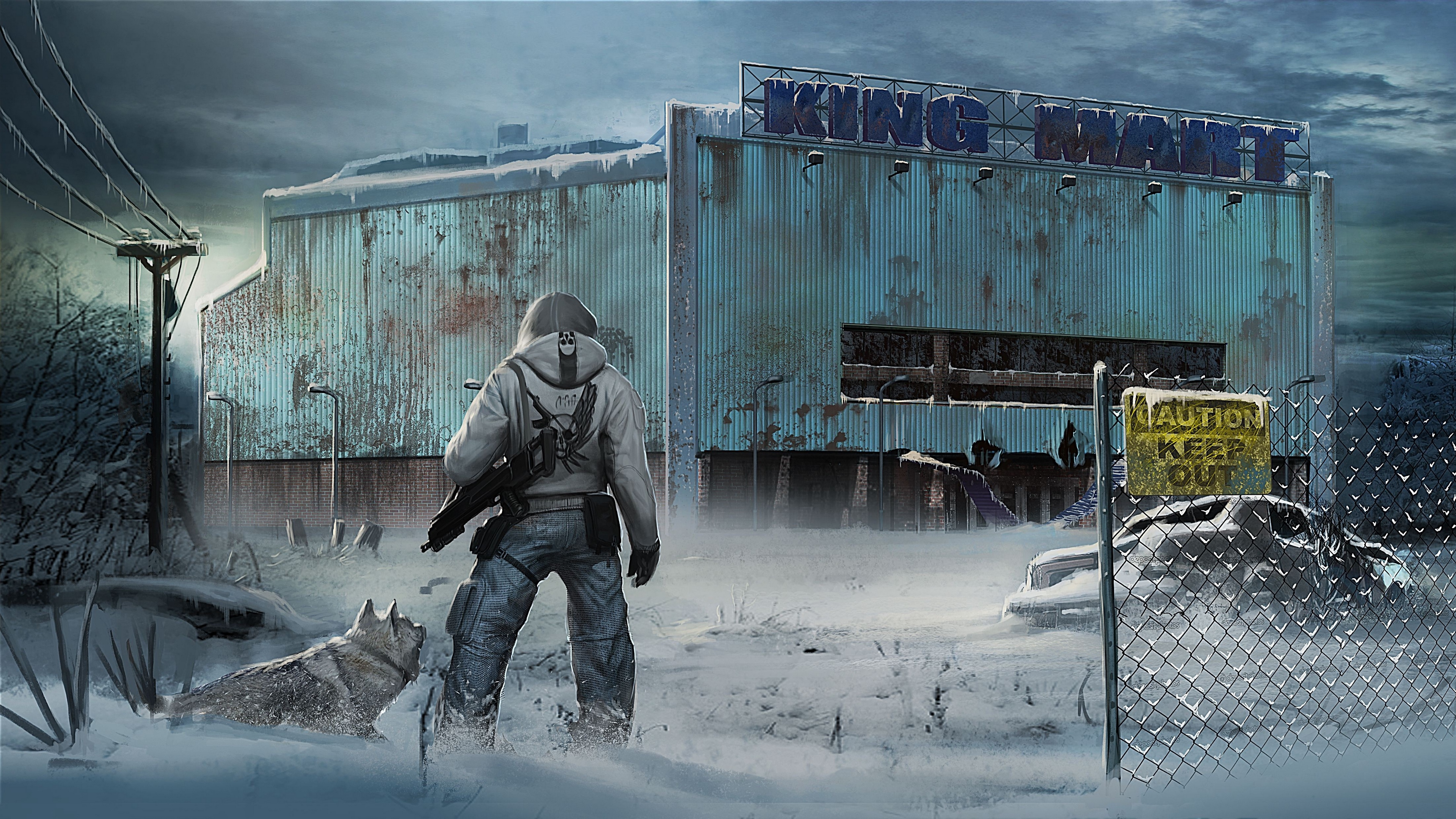Wallpaper 4k The Last Of Us City Winter 4k City The Last Of Us