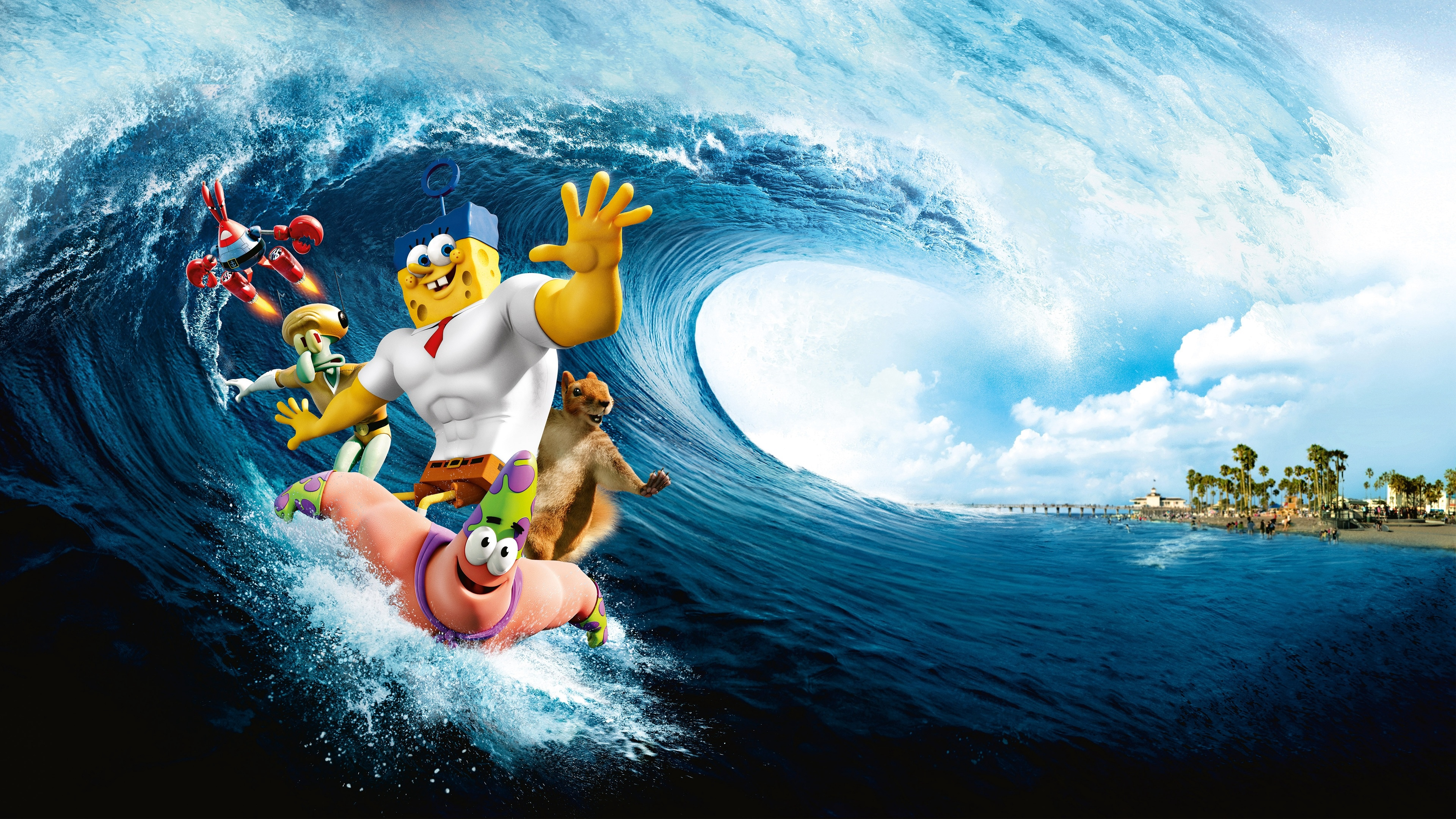 the spongebob movie sponge out of water the spongebob movie art wave 4k 1539368191 - the spongebob movie sponge out of water, the spongebob movie, art, wave 4k - the spongebob movie sponge out of water, the spongebob movie, art