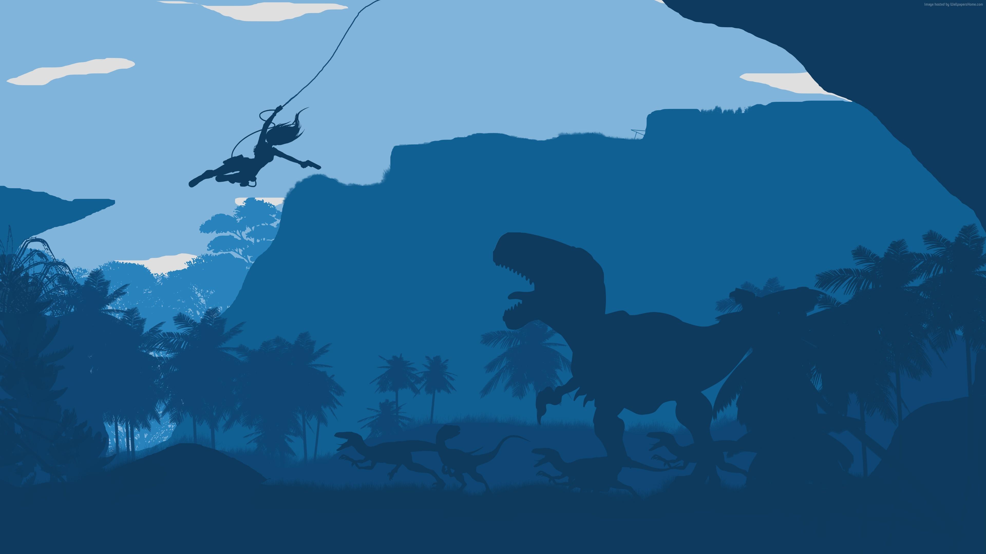 tomb raider dinosaur minimalism 4k 1540751147 - Tomb Raider Dinosaur Minimalism 4k - tomb raider wallpapers, minimalism wallpapers, hd-wallpapers, dinosaur wallpapers, digital art wallpapers, artwork wallpapers, artist wallpapers, 4k-wallpapers