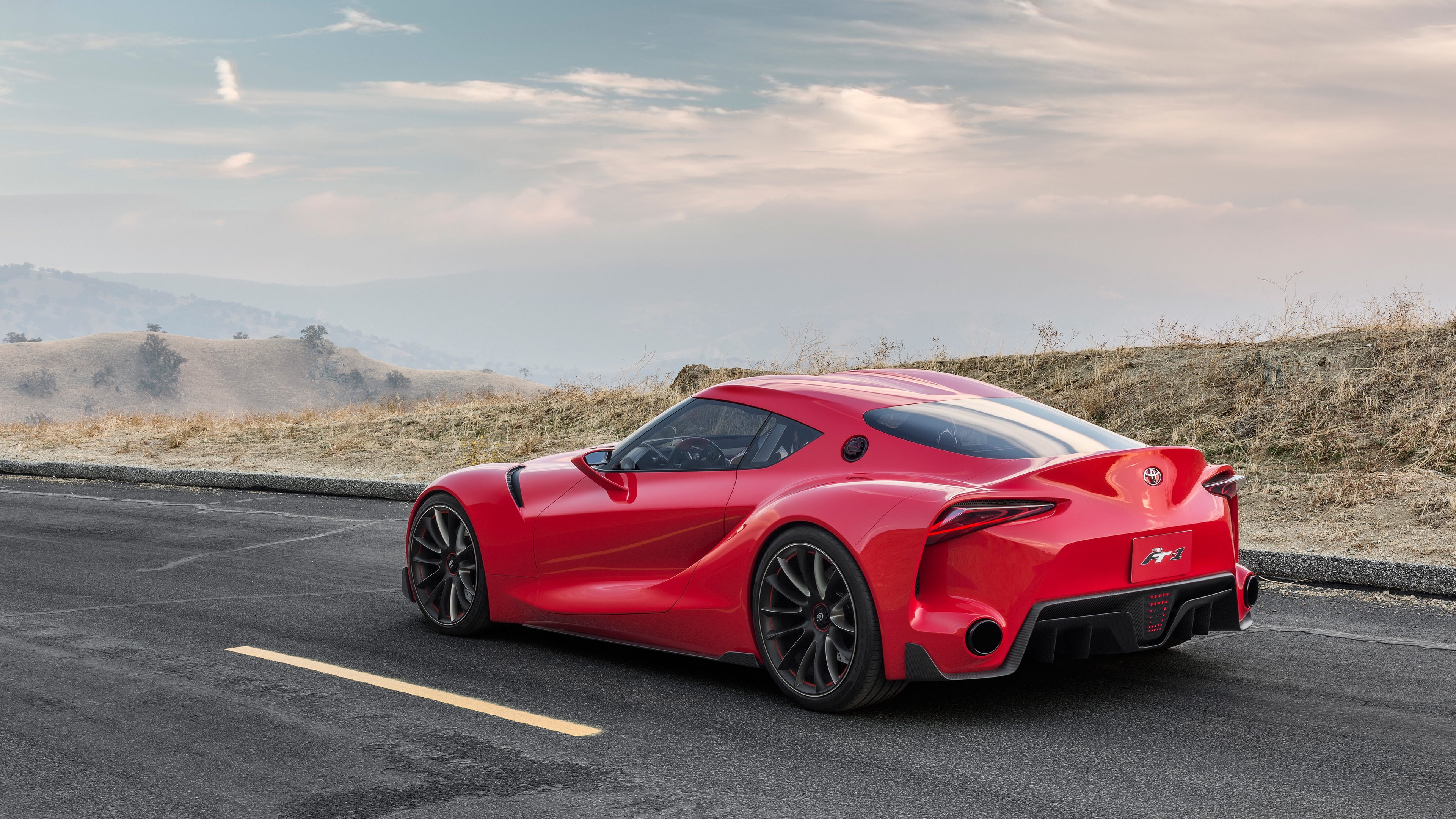 toyota ft 1 red machine side view 4k 1538935392 - toyota, ft-1, red, machine, side view 4k - Toyota, red, ft-1