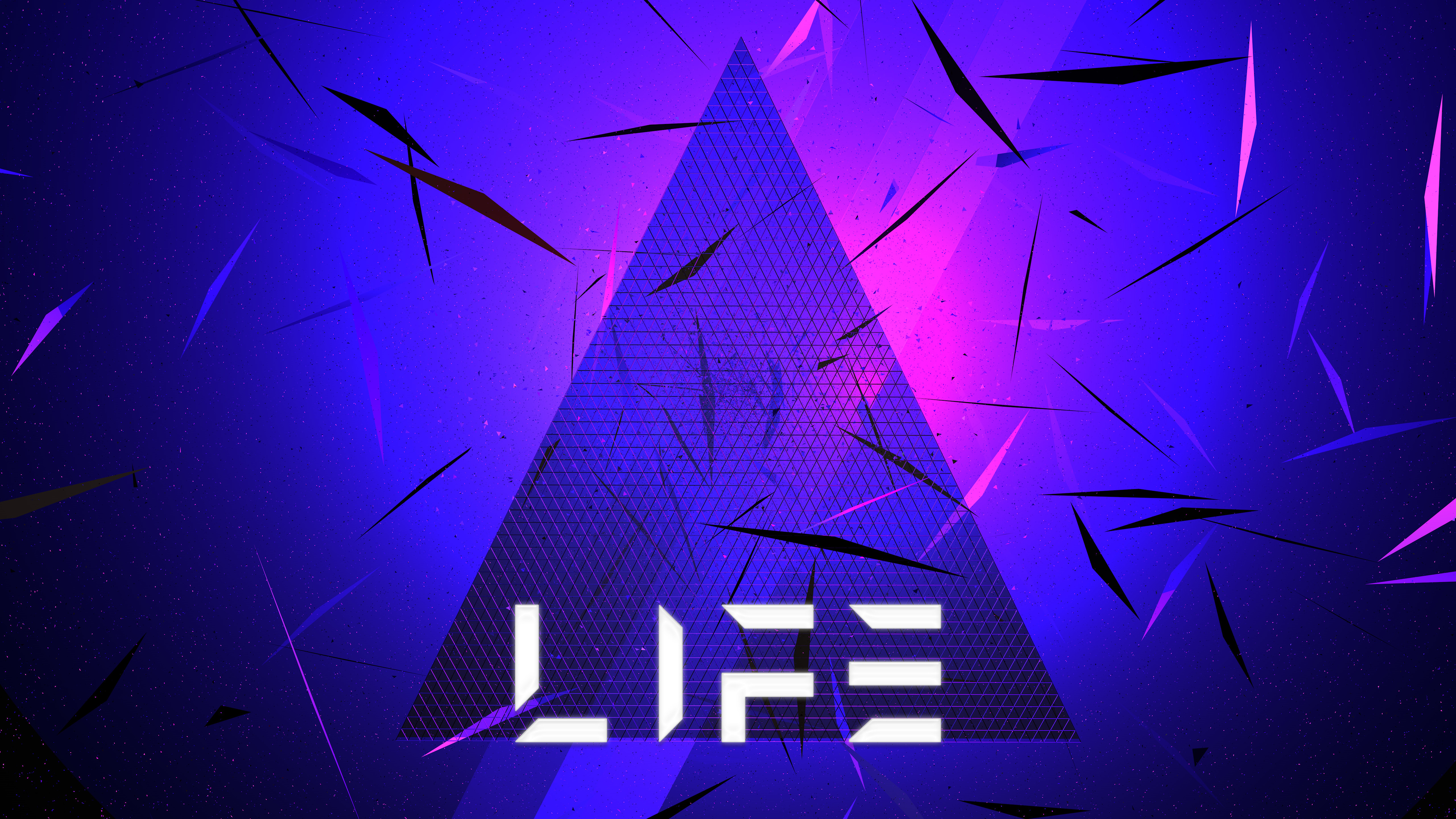 triangle abstract life typography 5k 1539371003 - Triangle Abstract Life Typography 5k - triangle wallpapers, life wallpapers, hd-wallpapers, digital art wallpapers, artwork wallpapers, artist wallpapers, abstract wallpapers, 5k wallpapers, 4k-wallpapers