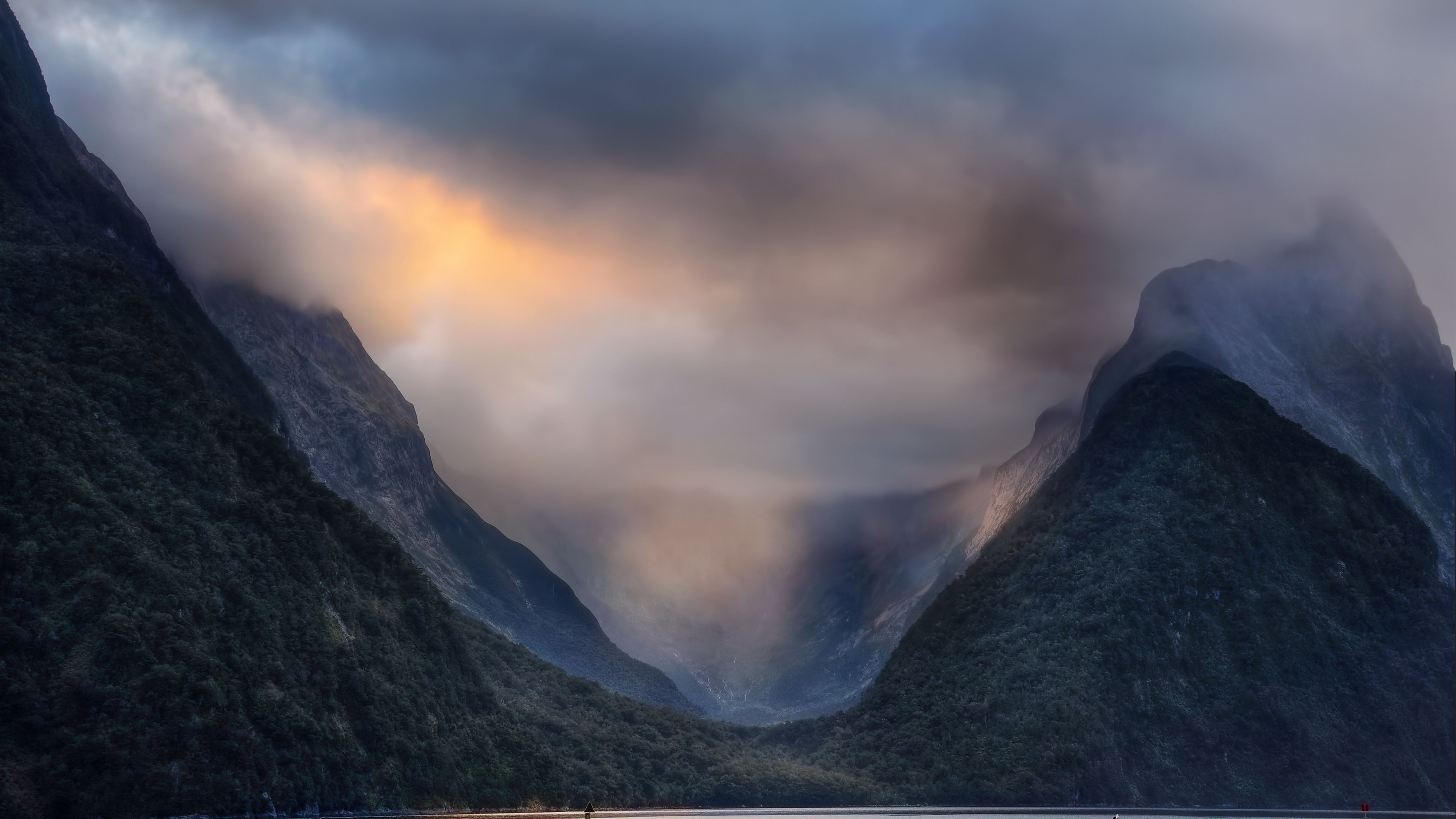 Wallpaper 4k Valley Milford Sound In New Zealand 4k 4k