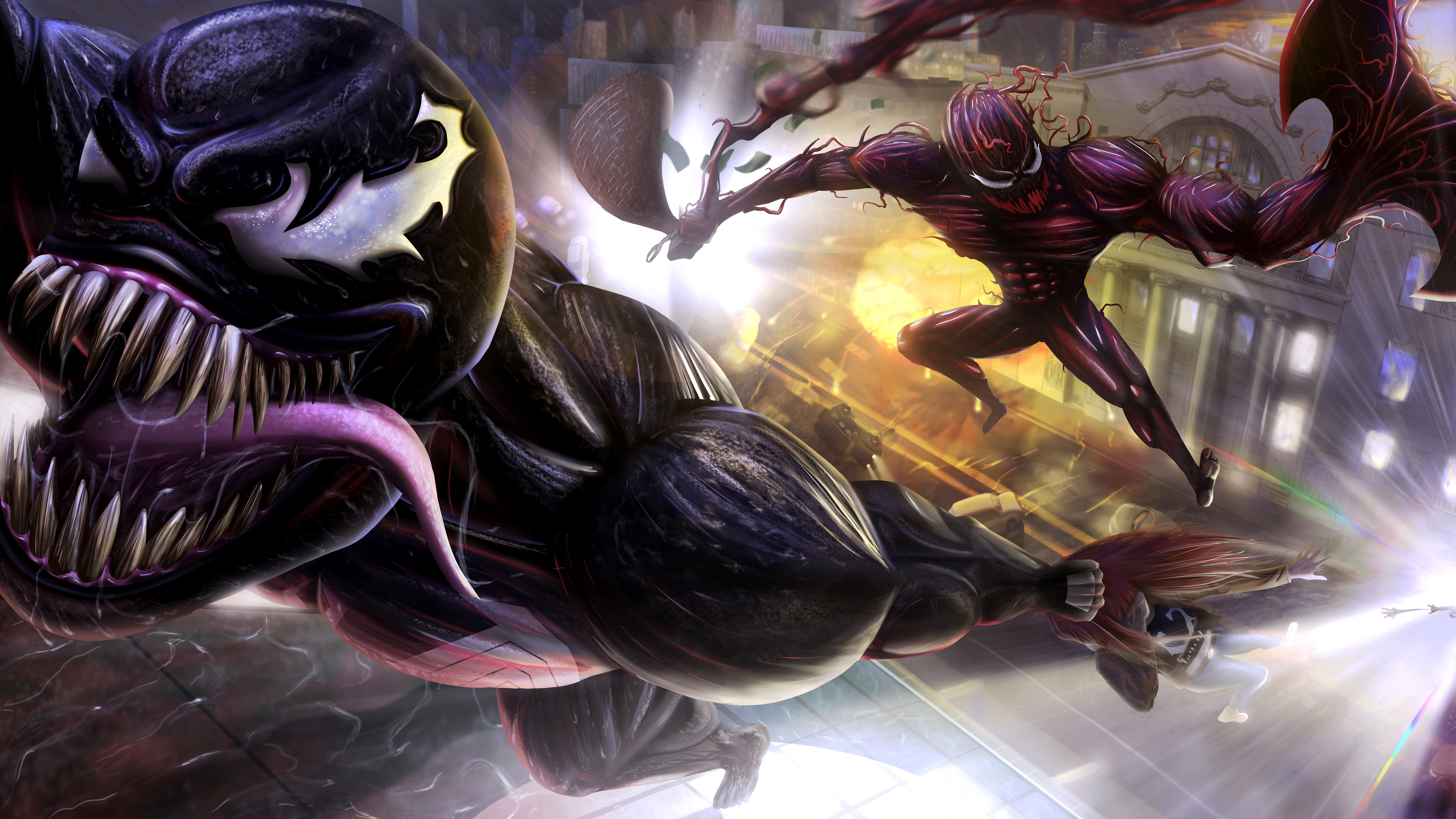 venom and carnage 10k 1538786552 - Venom And Carnage 10k - Venom wallpapers, supervillain wallpapers, superheroes wallpapers, hd-wallpapers, digital art wallpapers, deviantart wallpapers, carnage wallpapers, artwork wallpapers, 8k wallpapers, 5k wallpapers, 4k-wallpapers, 10k wallpapers