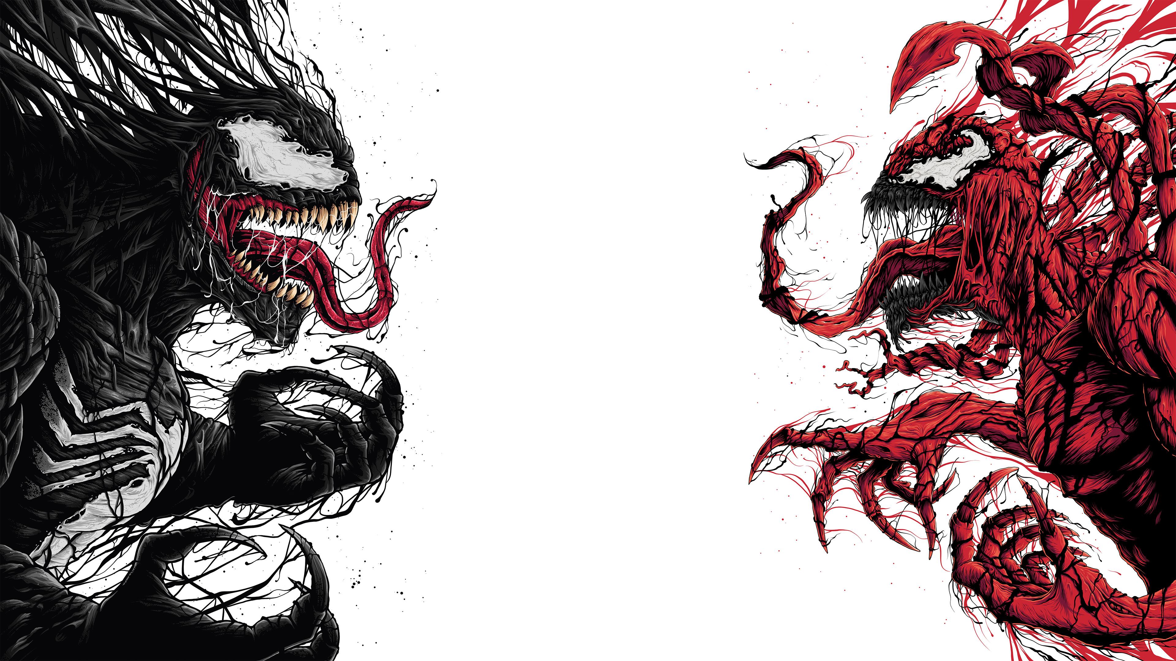 venom and carnage artwork 1538785901 - Venom And Carnage Artwork - Venom wallpapers, supervillain wallpapers, superheroes wallpapers, hd-wallpapers, digital art wallpapers, carnage wallpapers, behance wallpapers, artwork wallpapers, 4k-wallpapers