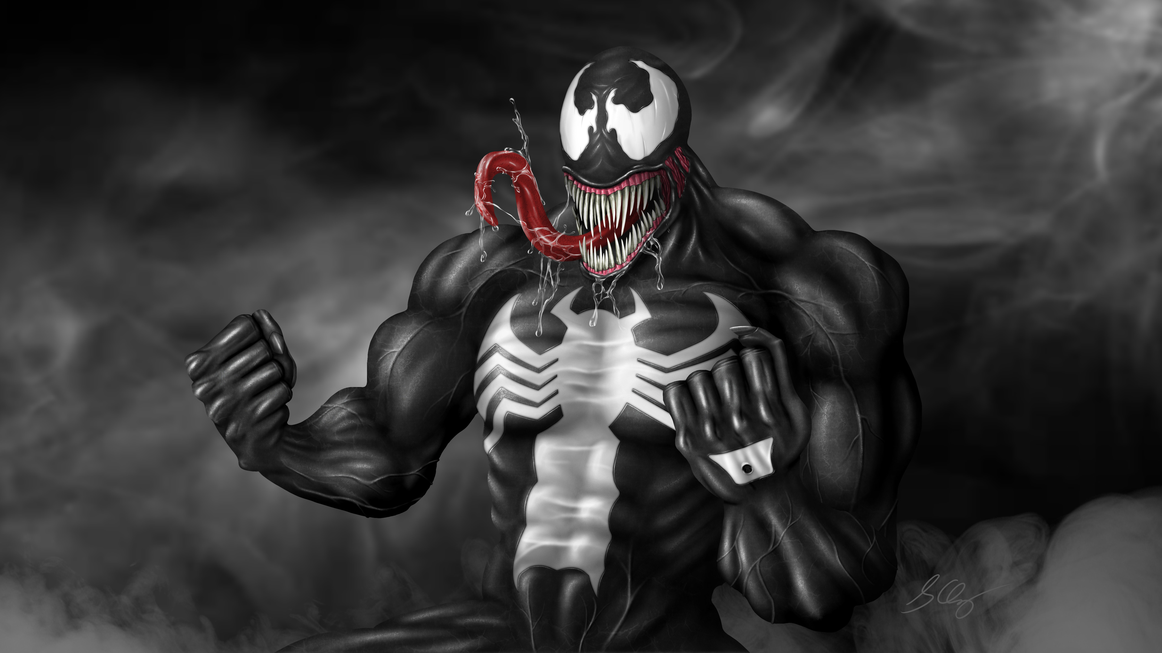 2048x2048 Venom 2018 Movie 4k Ipad Air Hd 4k Wallpapers: Venom Art Digital Venom Wallpapers, Superheroes Wallpapers