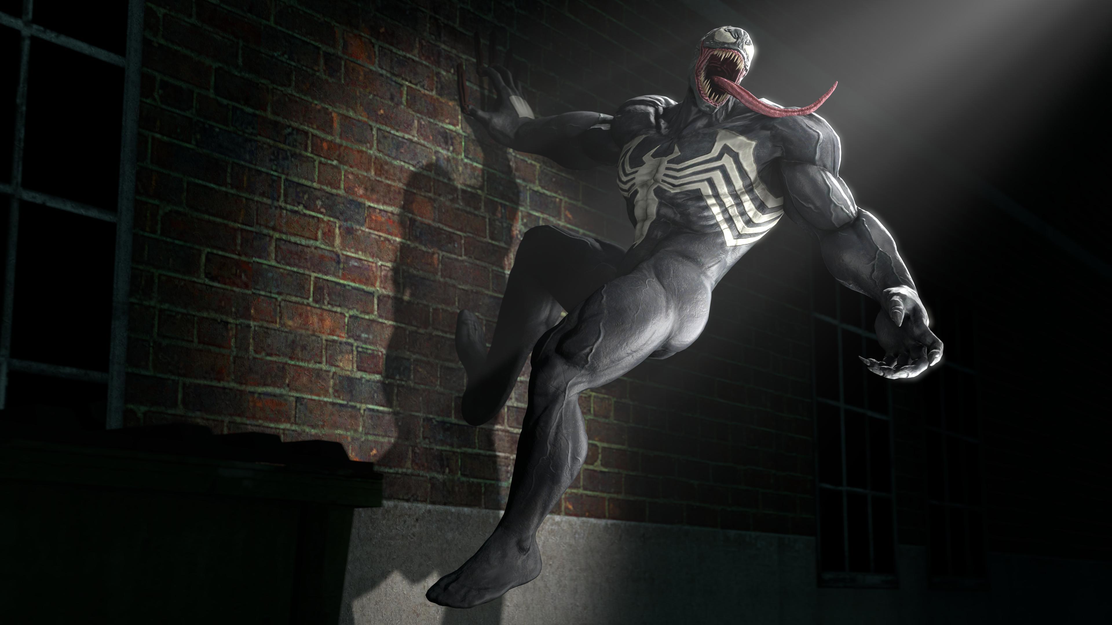 venom in spotlight 4k artwork 1539452751 - Venom In Spotlight 4k Artwork - Venom wallpapers, venom movie wallpapers, superheroes wallpapers, hd-wallpapers, digital art wallpapers, deviantart wallpapers, artwork wallpapers, 4k-wallpapers