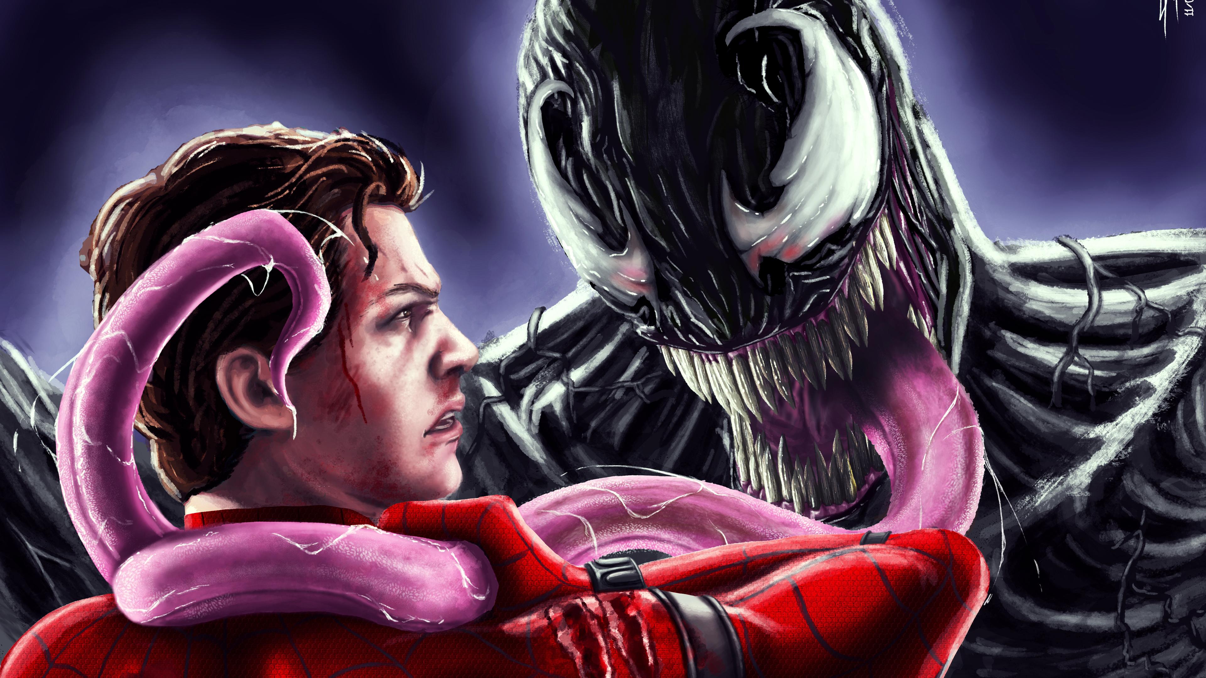 2048x2048 Venom 2018 Movie 4k Ipad Air Hd 4k Wallpapers: Venom Vs Spiderman Homecoming Artwork 5k Venom Wallpapers