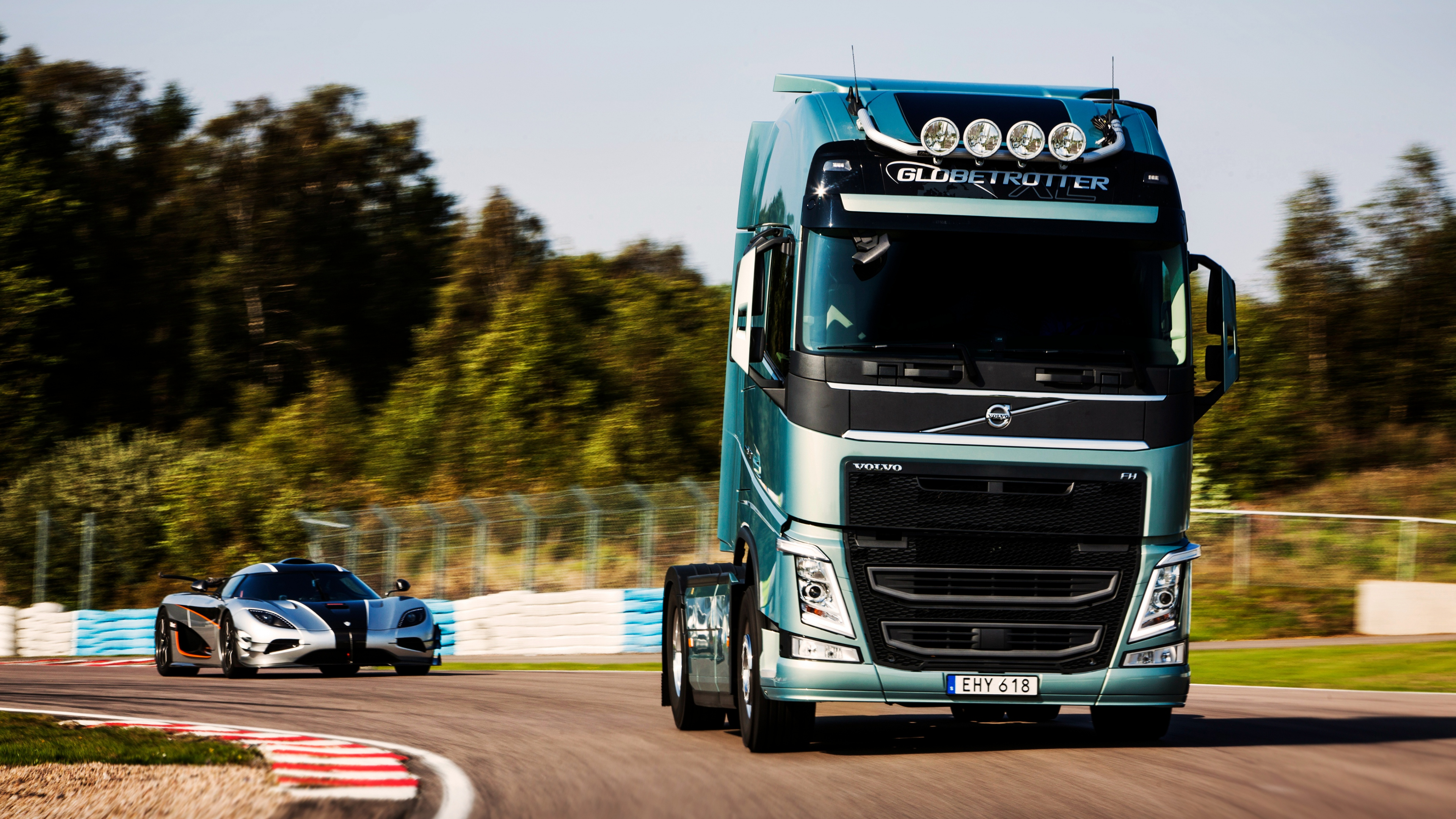 volvo truck and car 1539104496 - Volvo Truck And Car - volvo wallpapers, truck wallpapers, track wallpapers, racing wallpapers, cars wallpapers